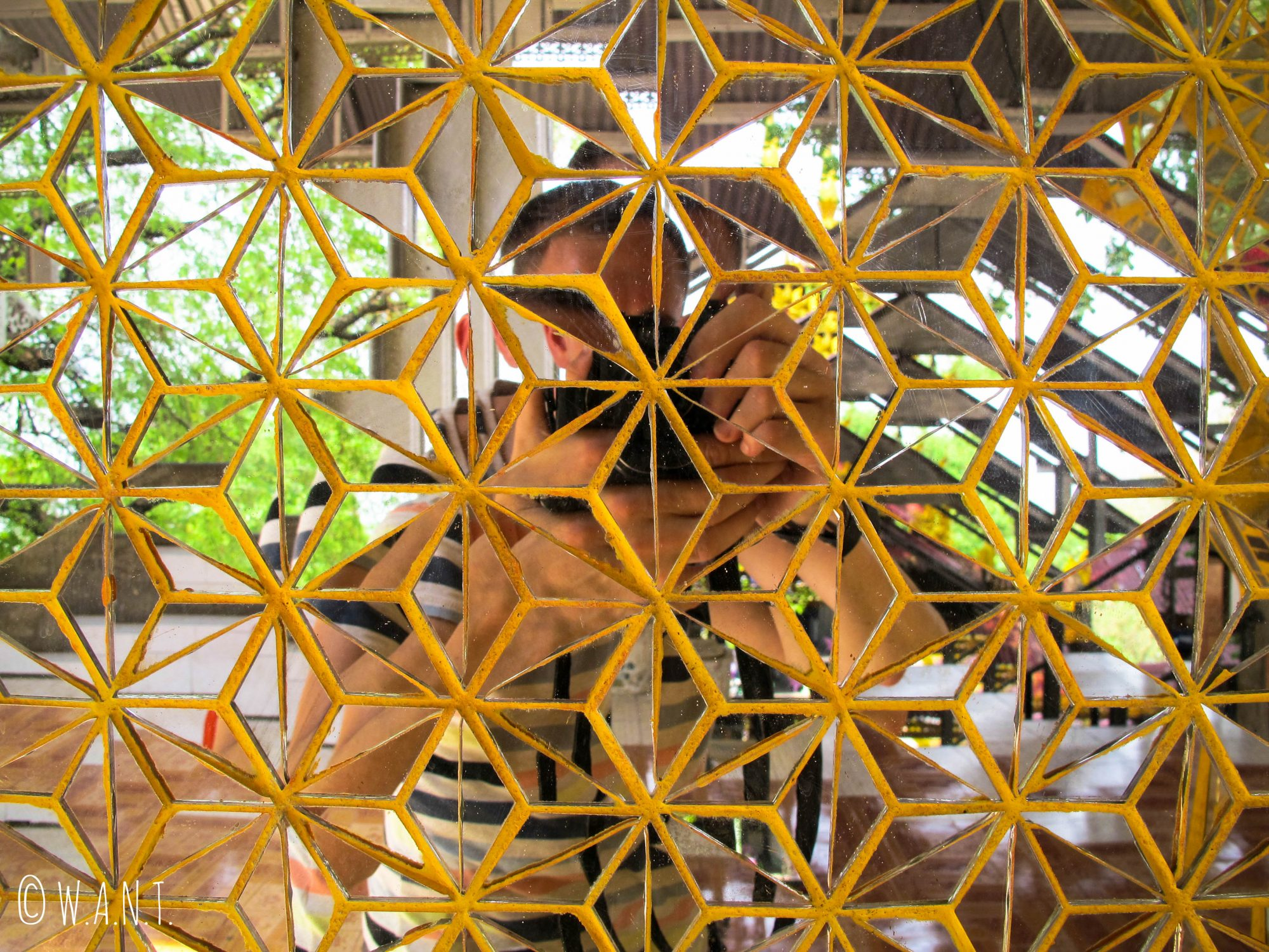 Selfie en mosaïques sur Mandalay Hill