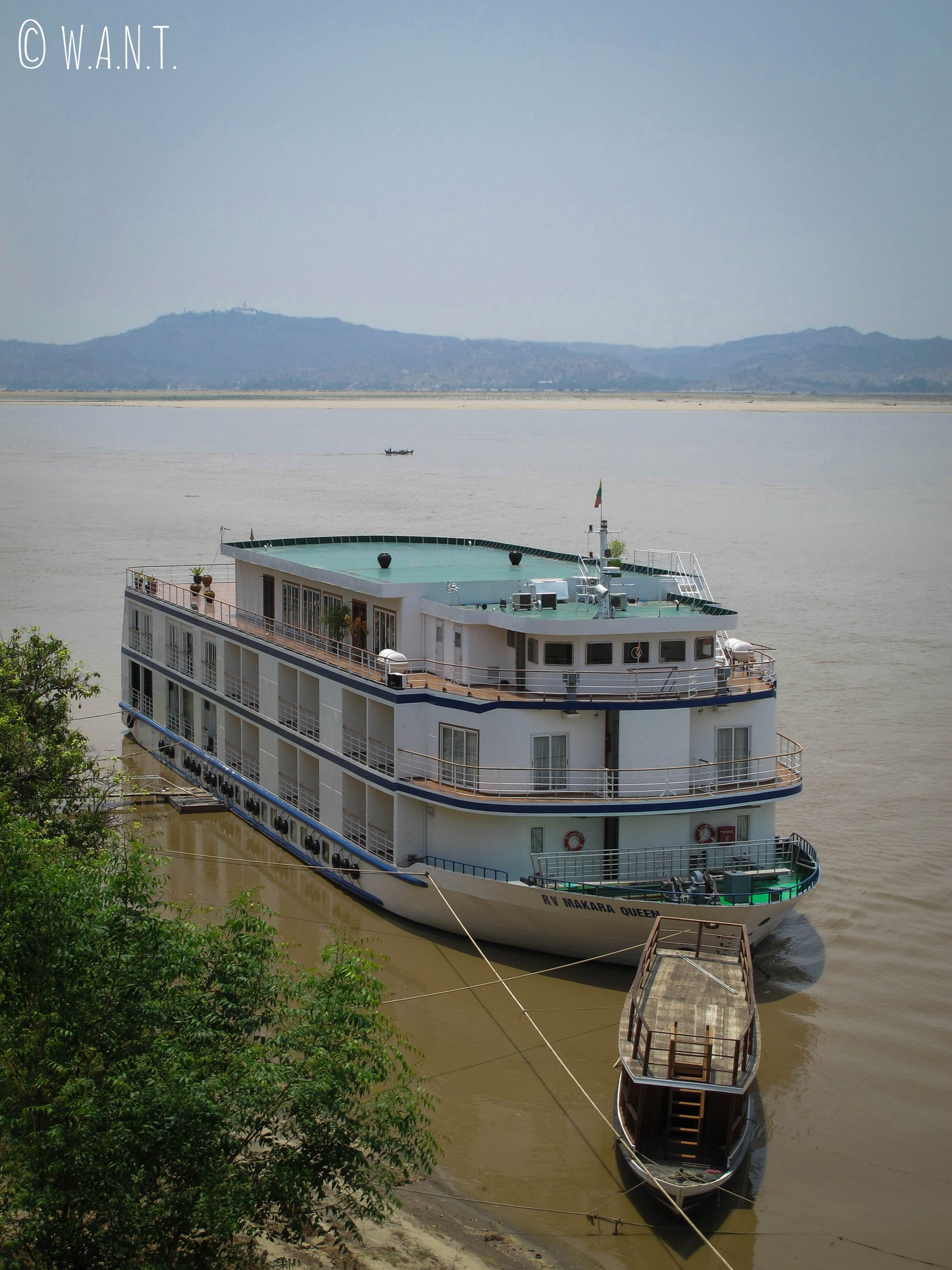 Bateau de croisière sur l'Irrawaddy