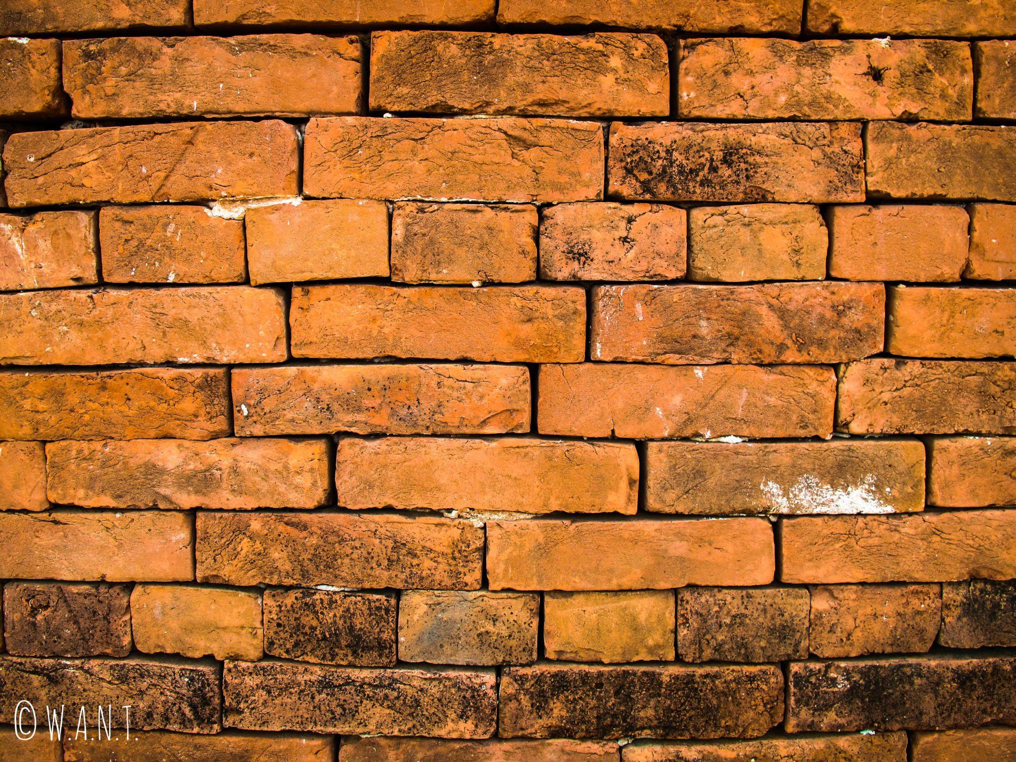 Briques rouges de la pagode Daw Gyan