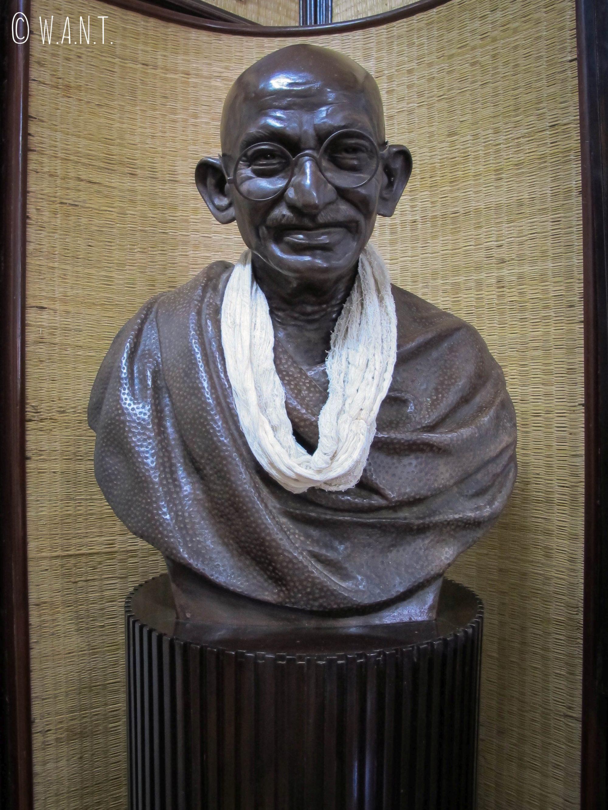 Buste de Gandhi