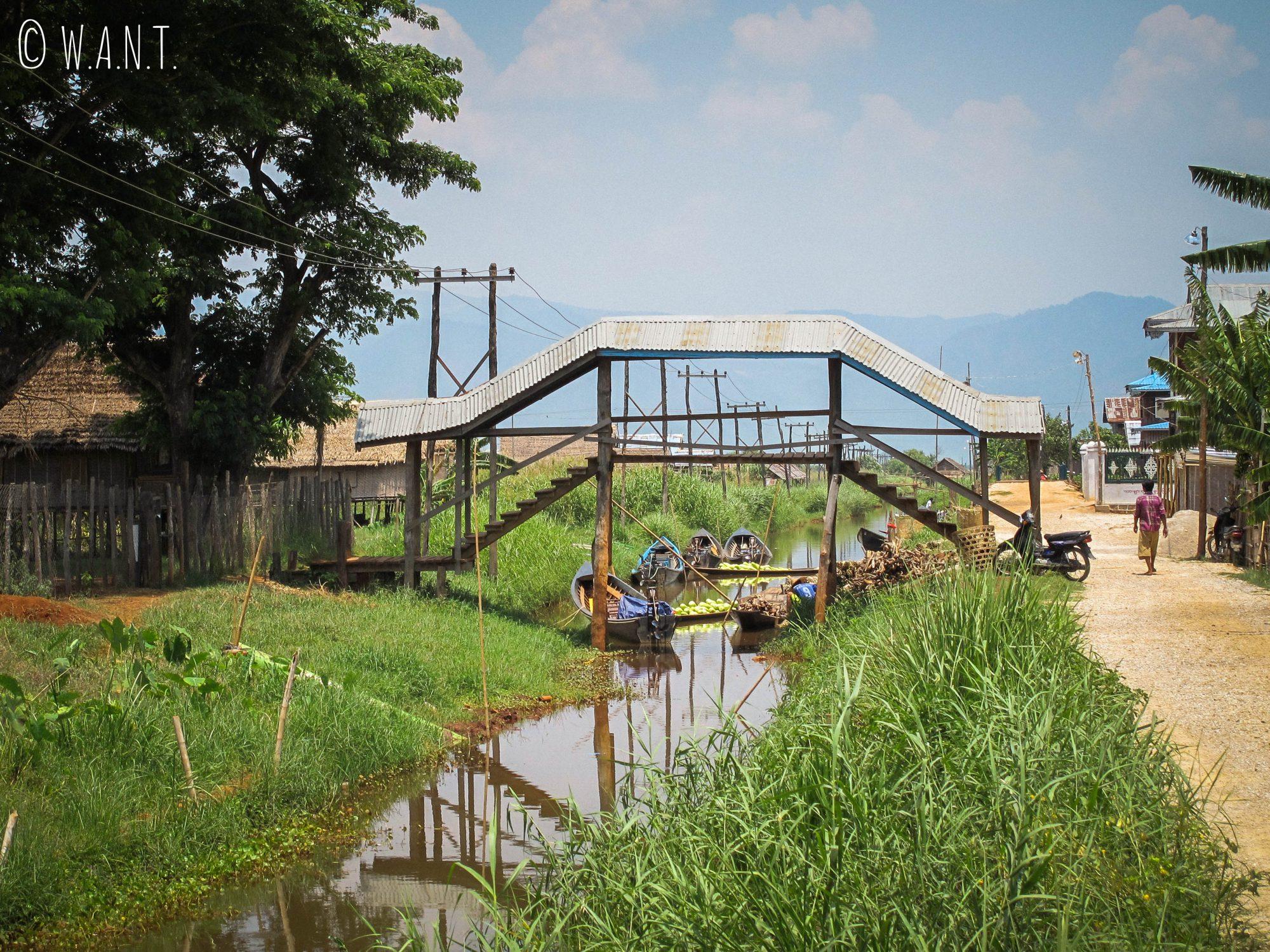 Canal rejoignant le Lac Inle