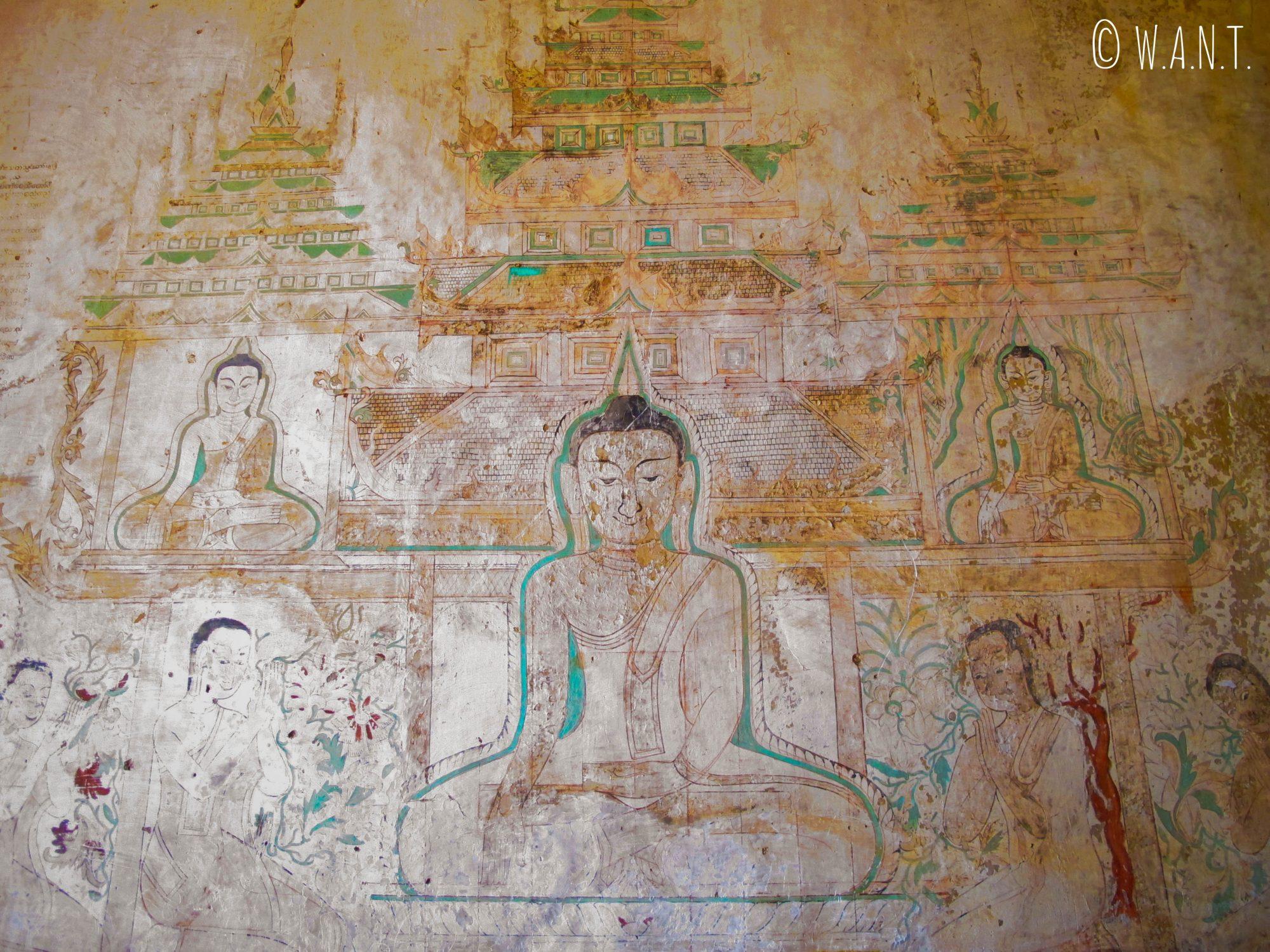 Fresque murale à l'intérieur du temple Sulamani