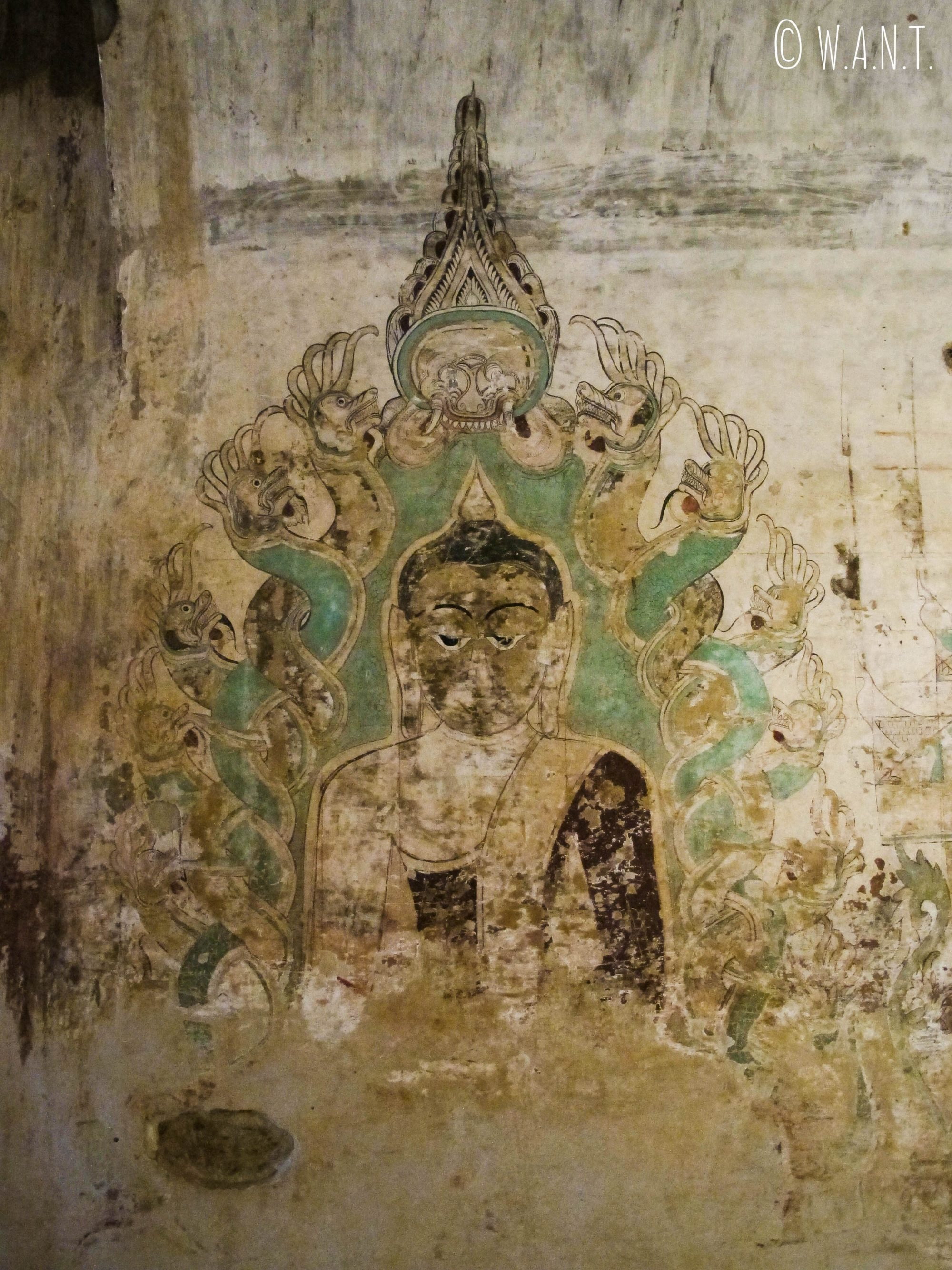 Fresque murale du temple Sulamani