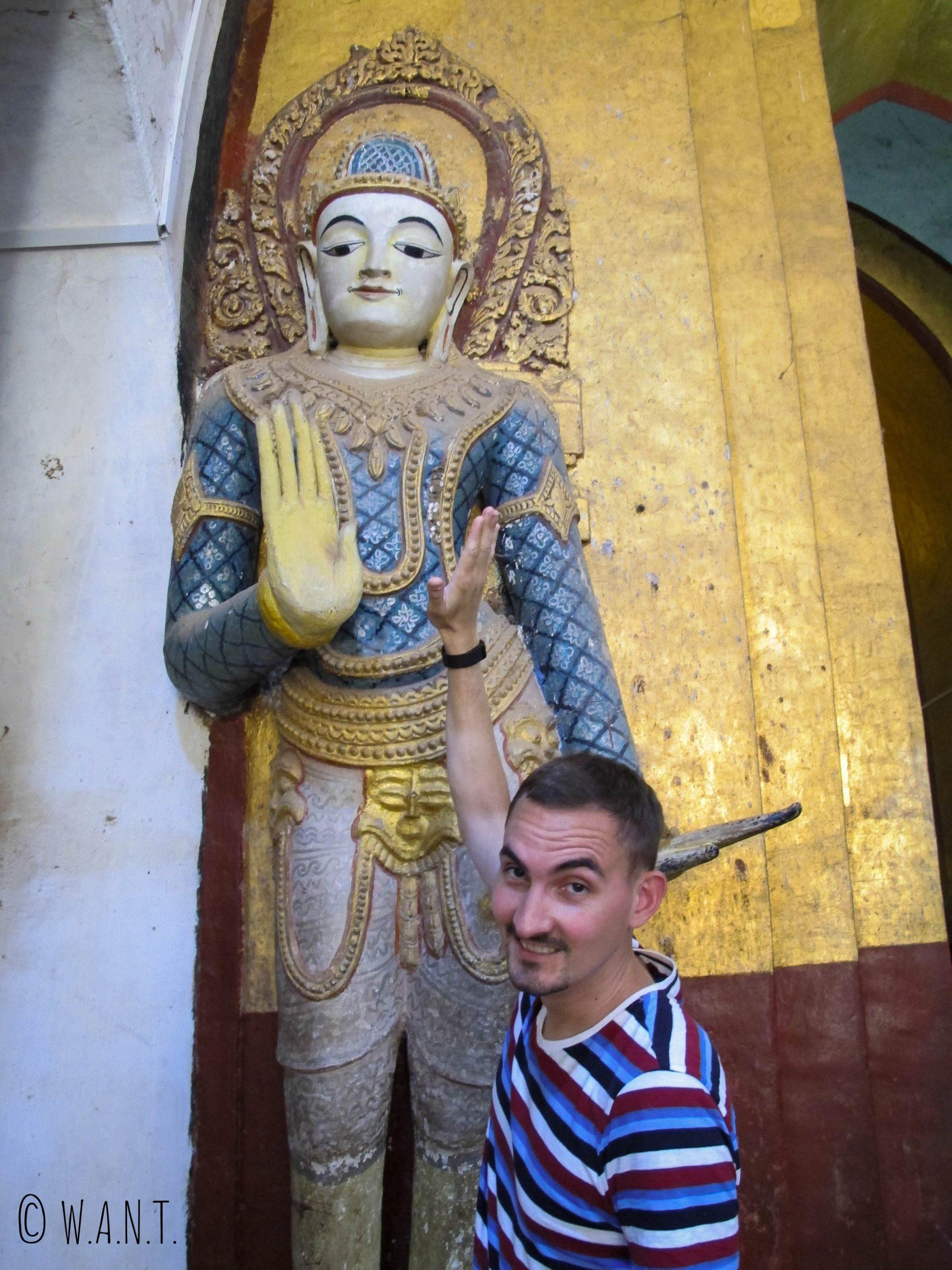 Give me five ! au temple d'Ananda