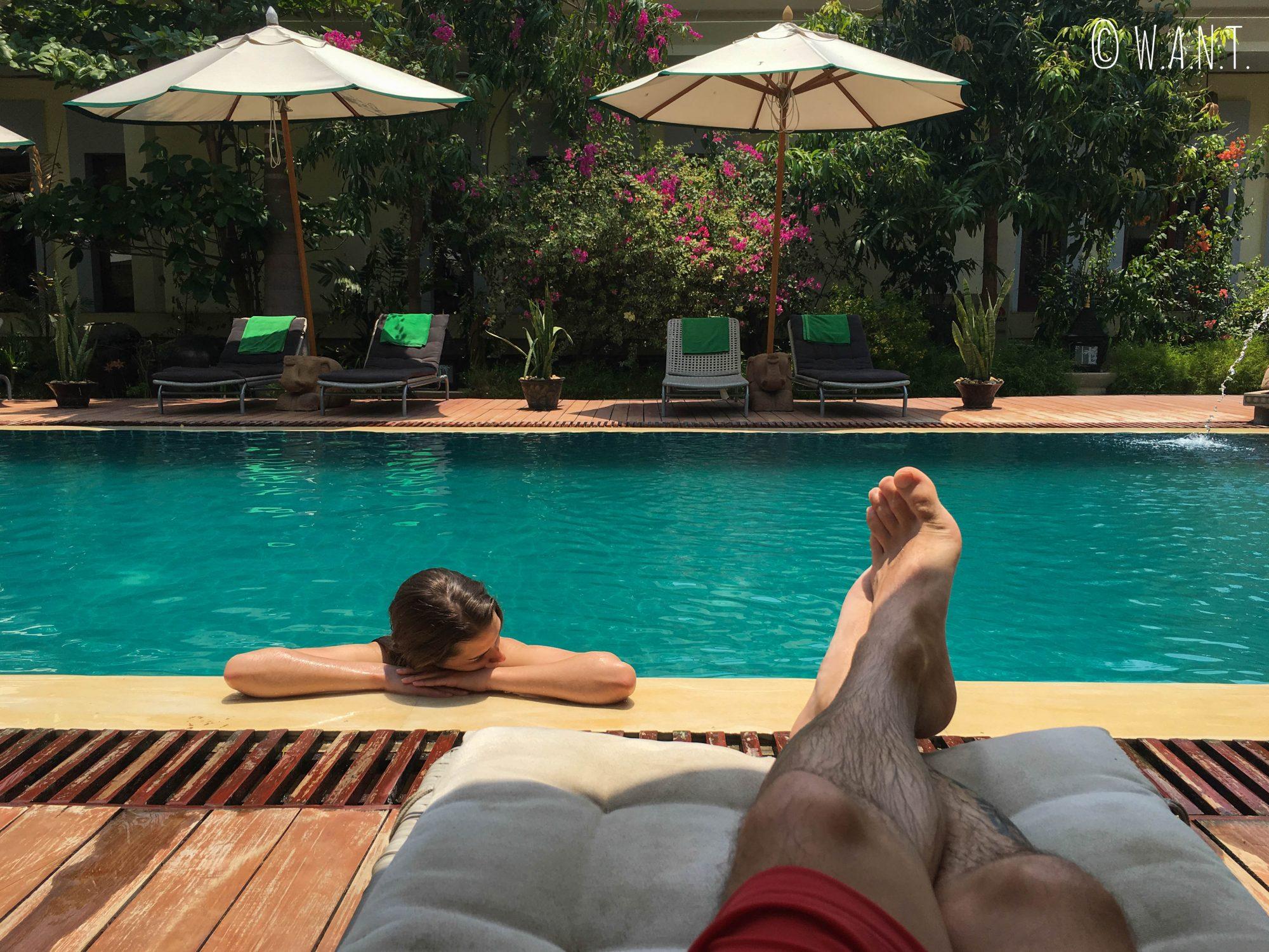 Journée détente à la piscine du My Bagan Residence by Amata