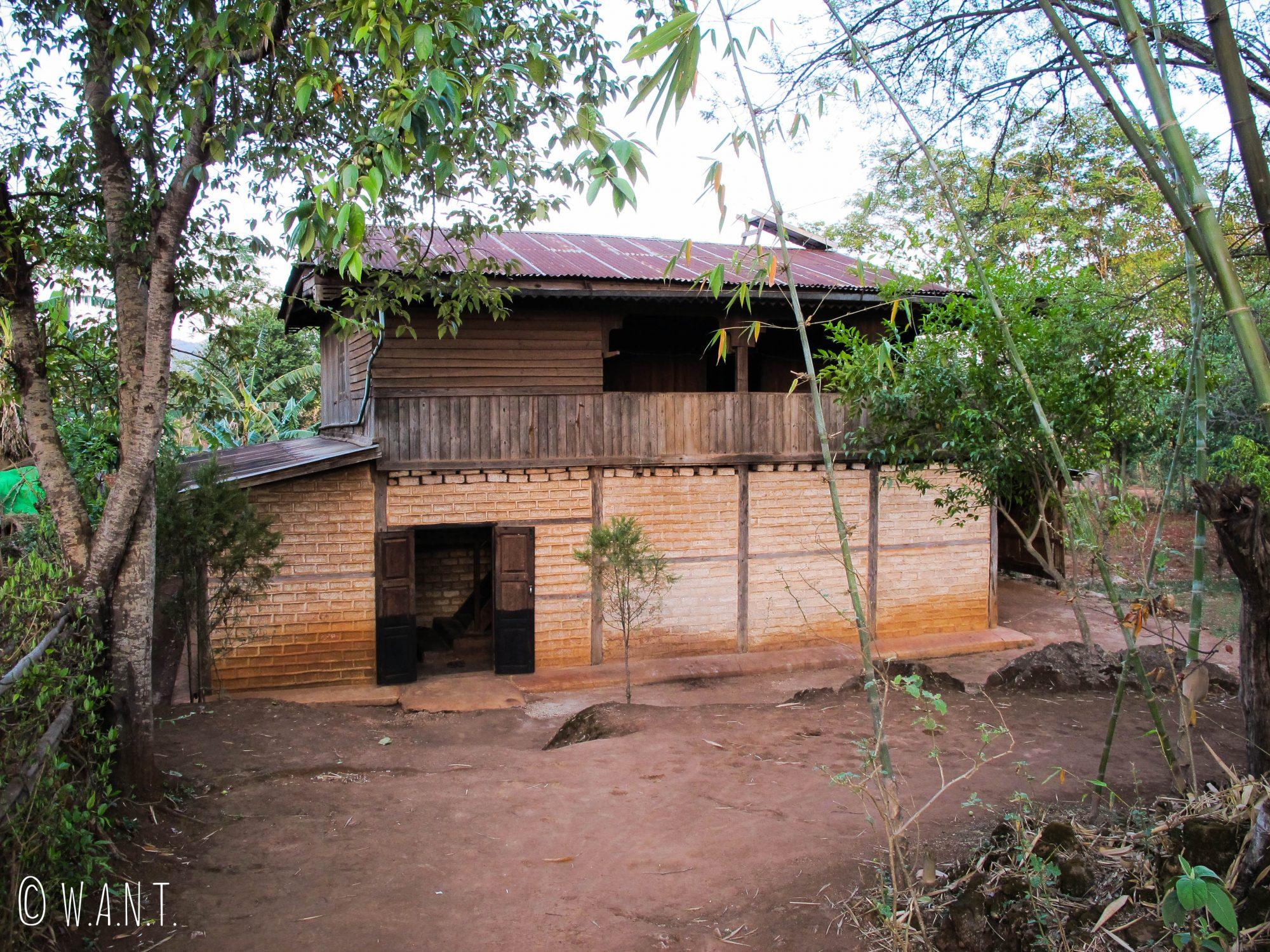 La maison de nos hôtes dans le village de Pattupauk