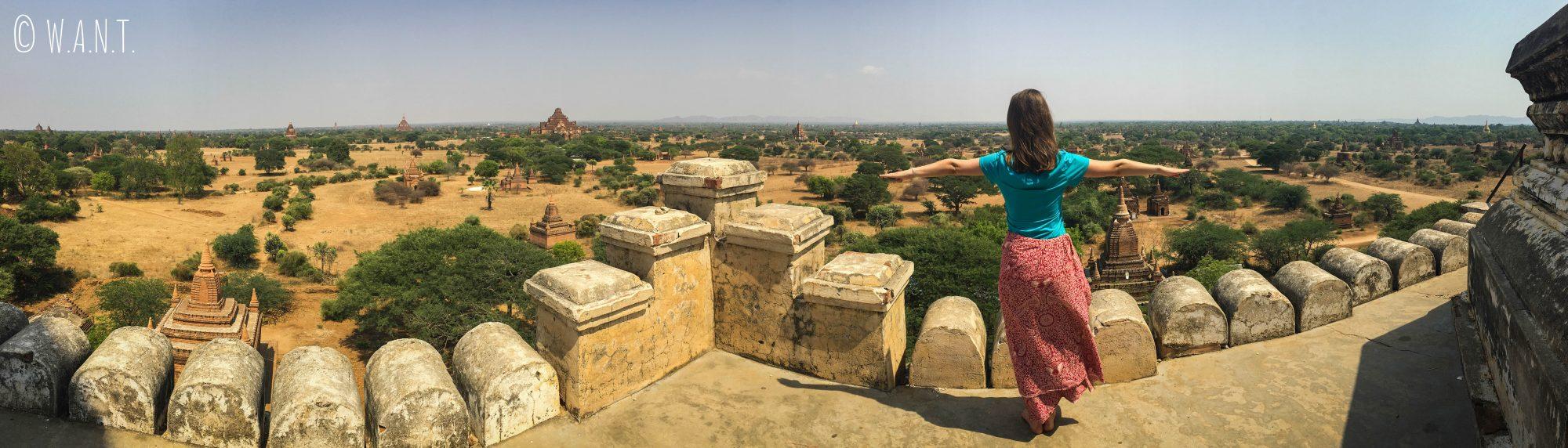 Magnifique vue depuis la pagode Shwesandaw