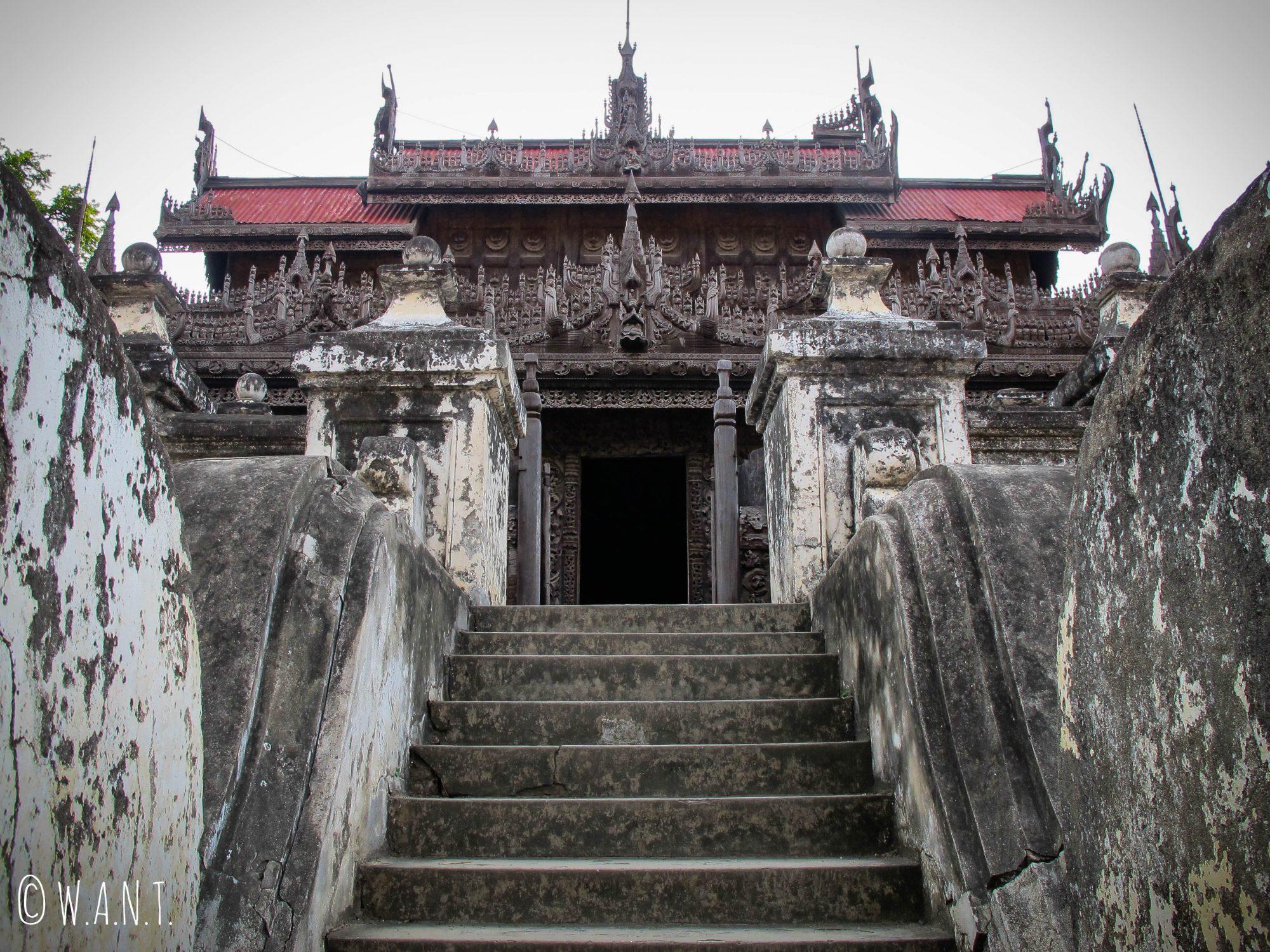Entrée du monastère Shwenandaw