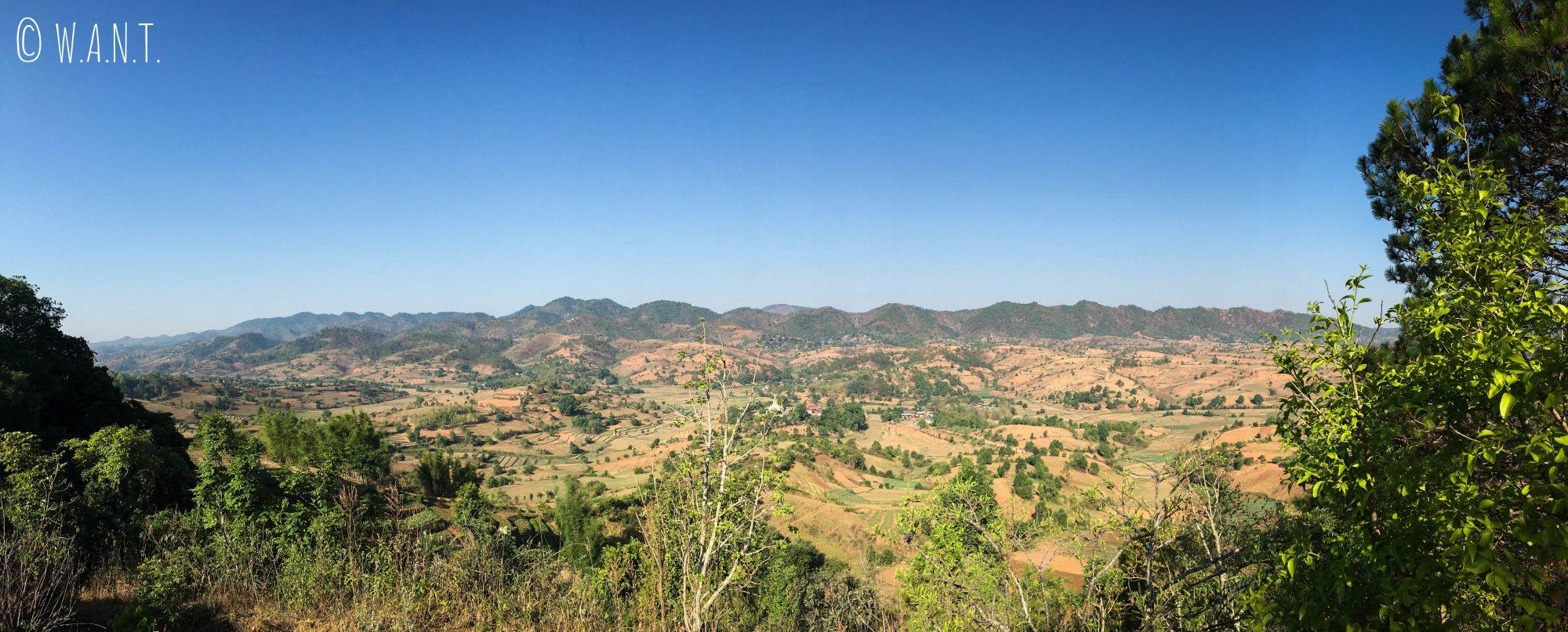 Panorama après notre ascension matinale