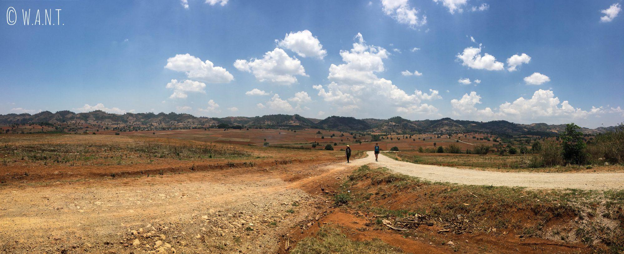 Panorama de ce deuxième jour de trek