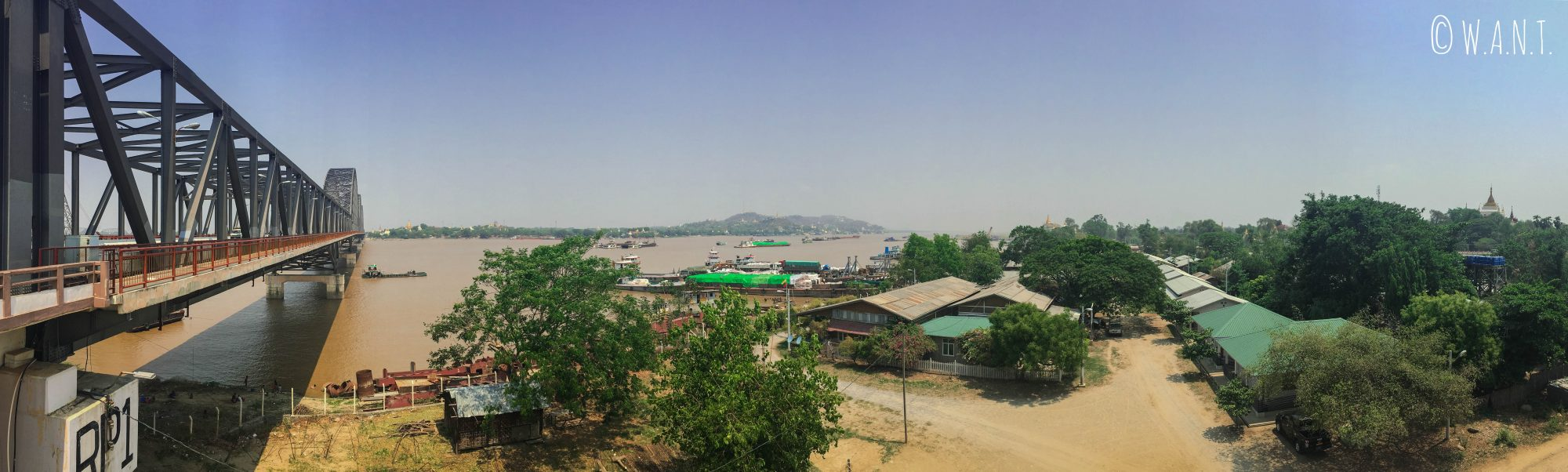 Pont de Sagaing et Irrawaddy