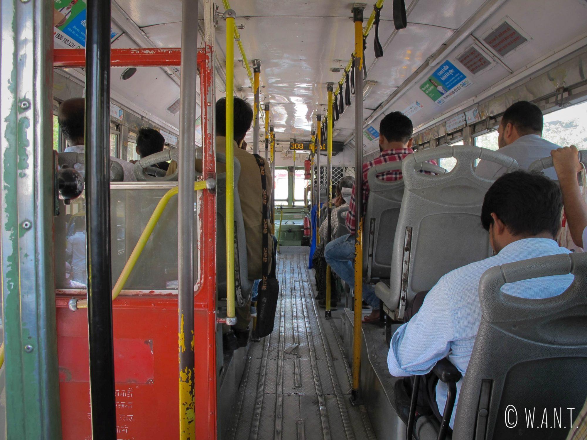 Pour notre première journée, nous avons pris le bus