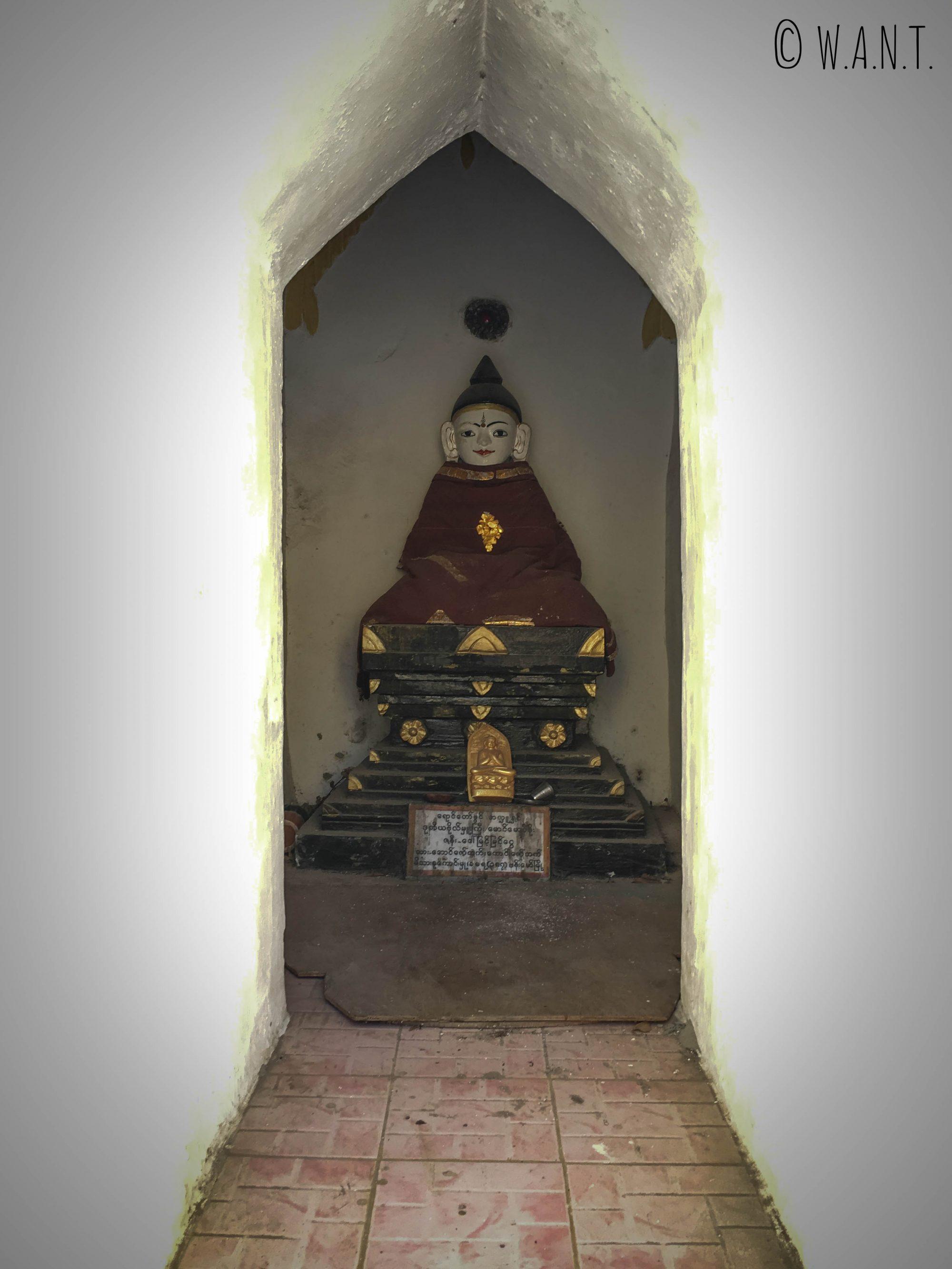 Représentation de Bouddha au sein de la Pagode Shwe oo min