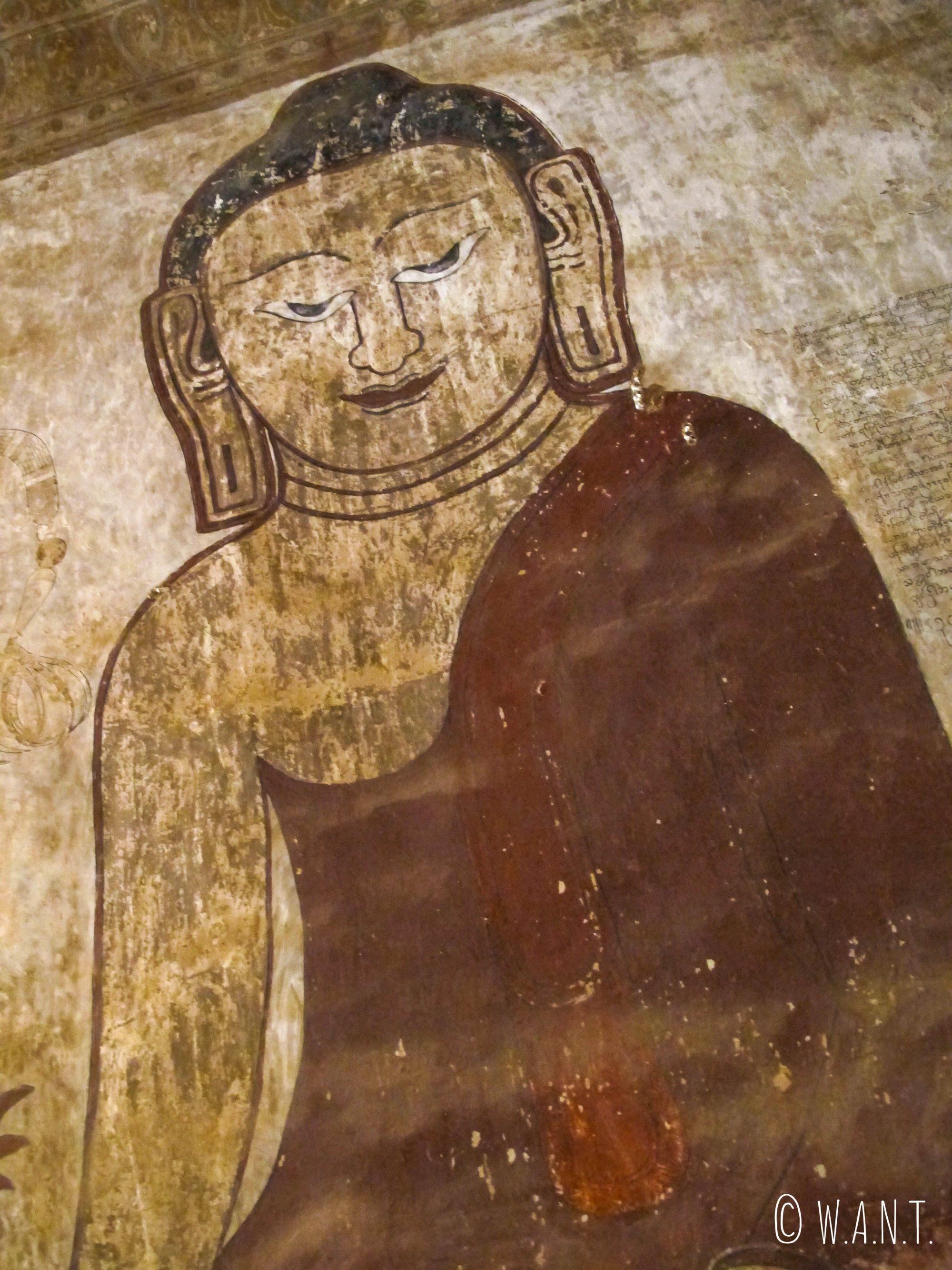 Représentation murale de Bouddha à l'intérieur de Sulamani