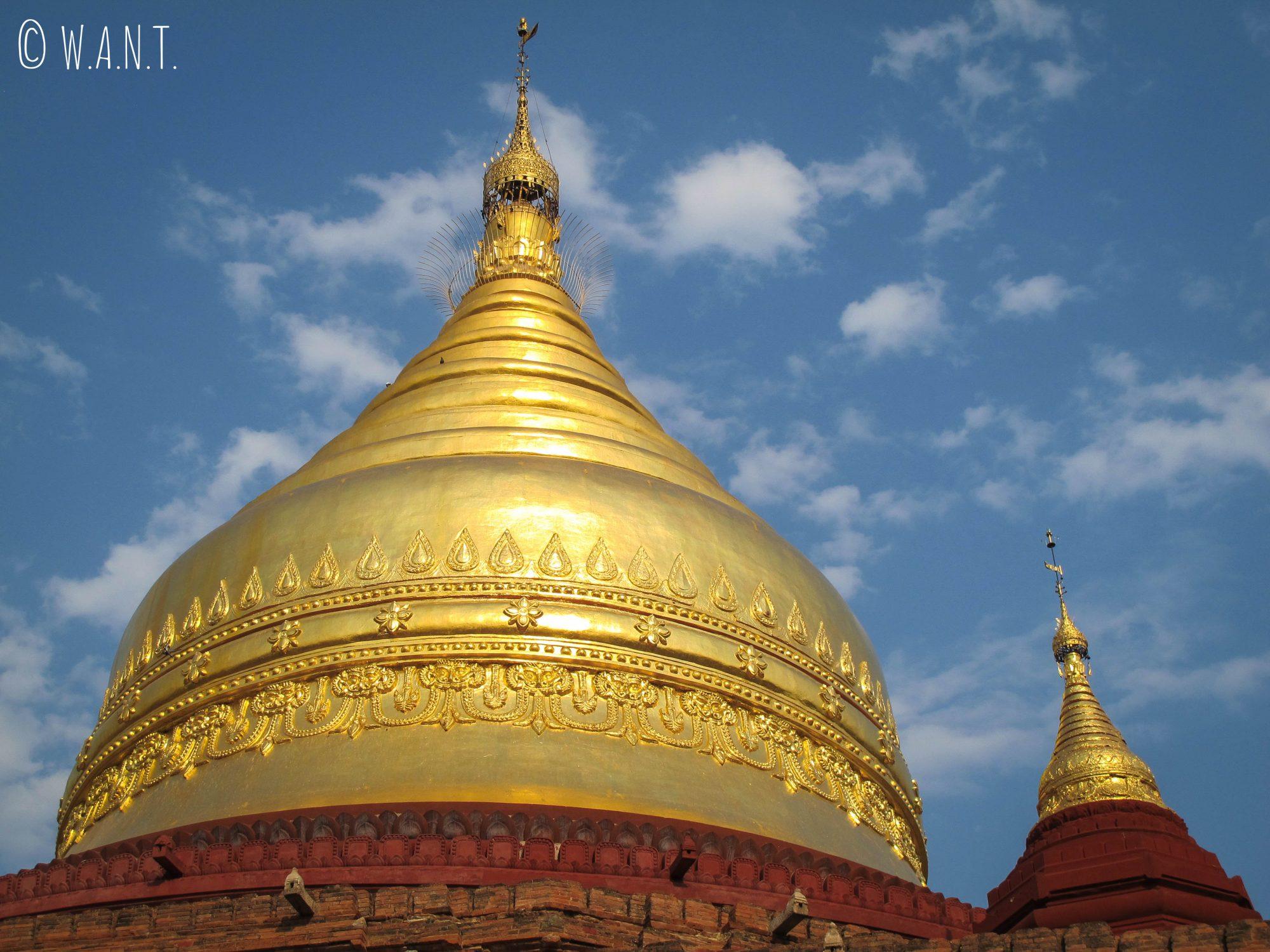 Stupa en or de la pagode Dhammayanzika