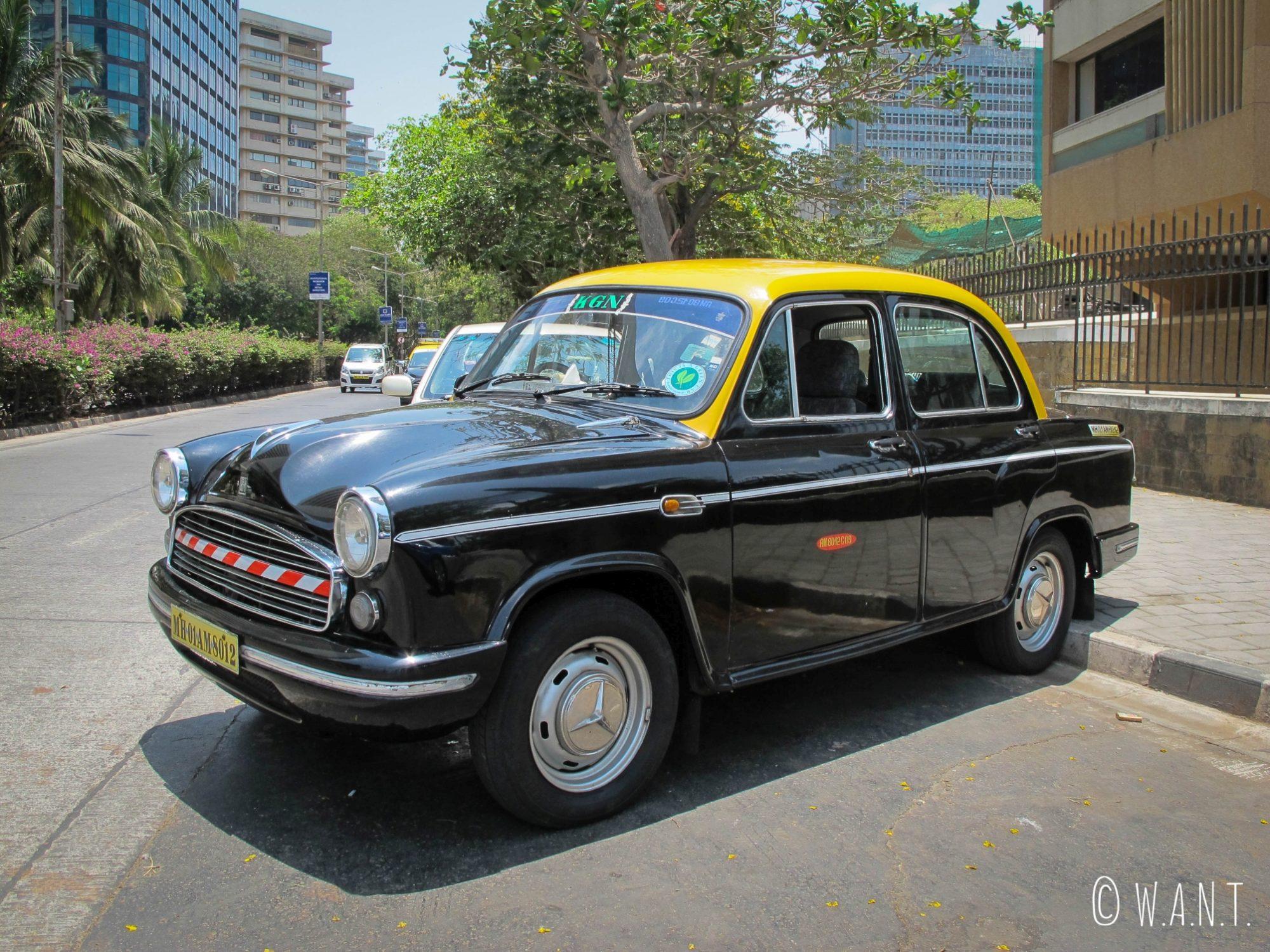 Taxi de Mumbai dans le quartier des affaires