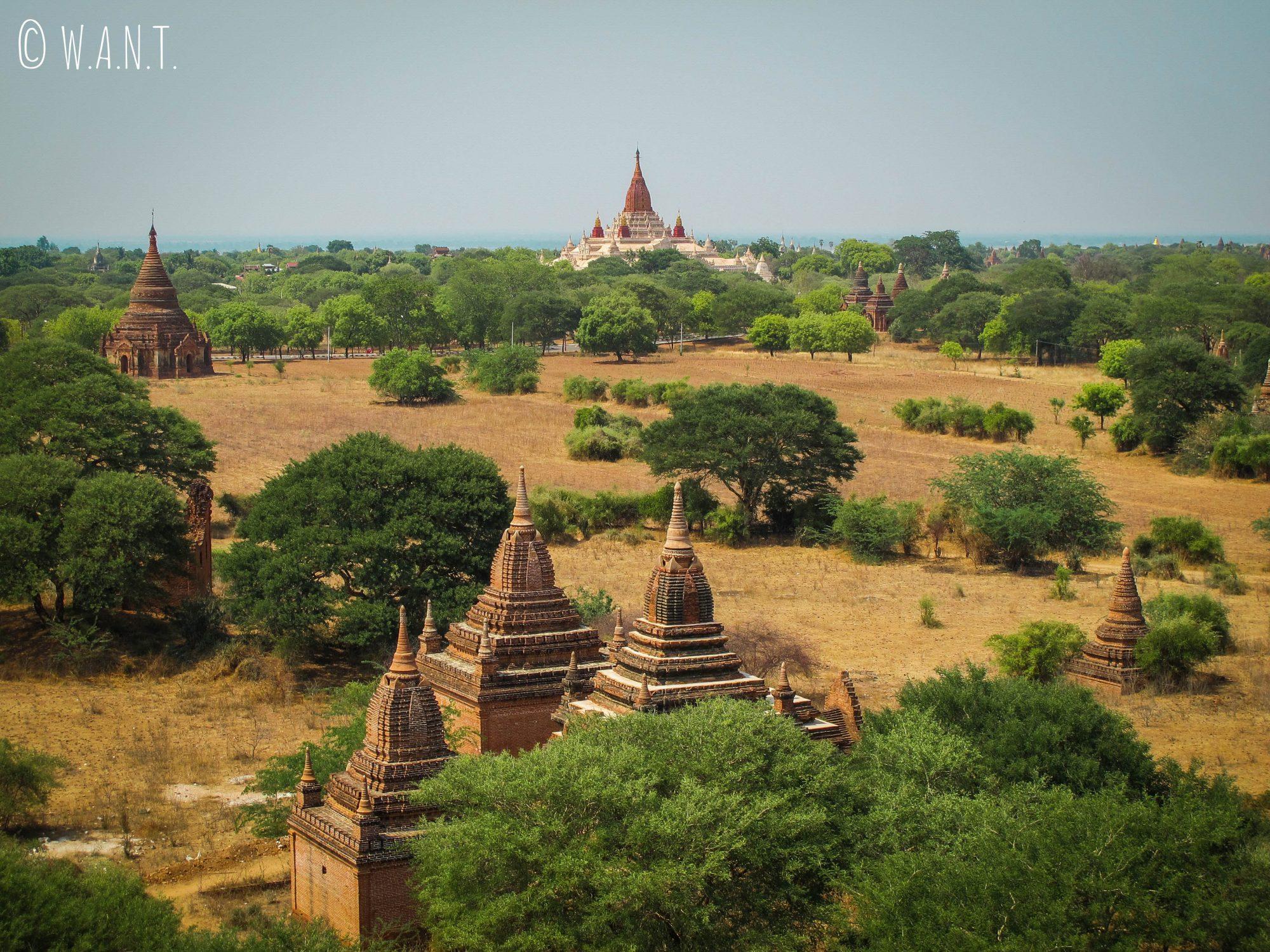Vue sur le temple Ananda depuis le sommet de Pya Tha Da