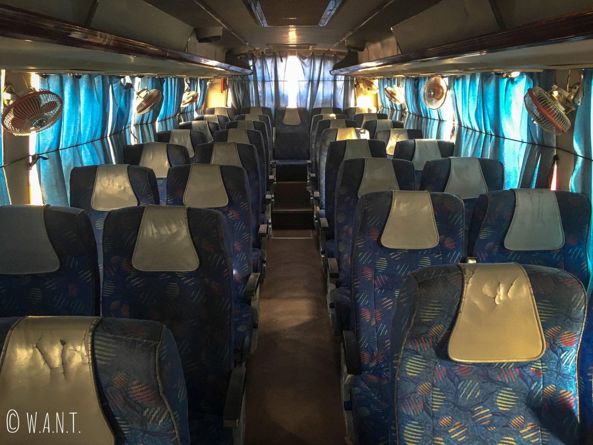 A bord de notre bus climatisé et plutôt confortable pour relier Jaisalmer à Jodhpur