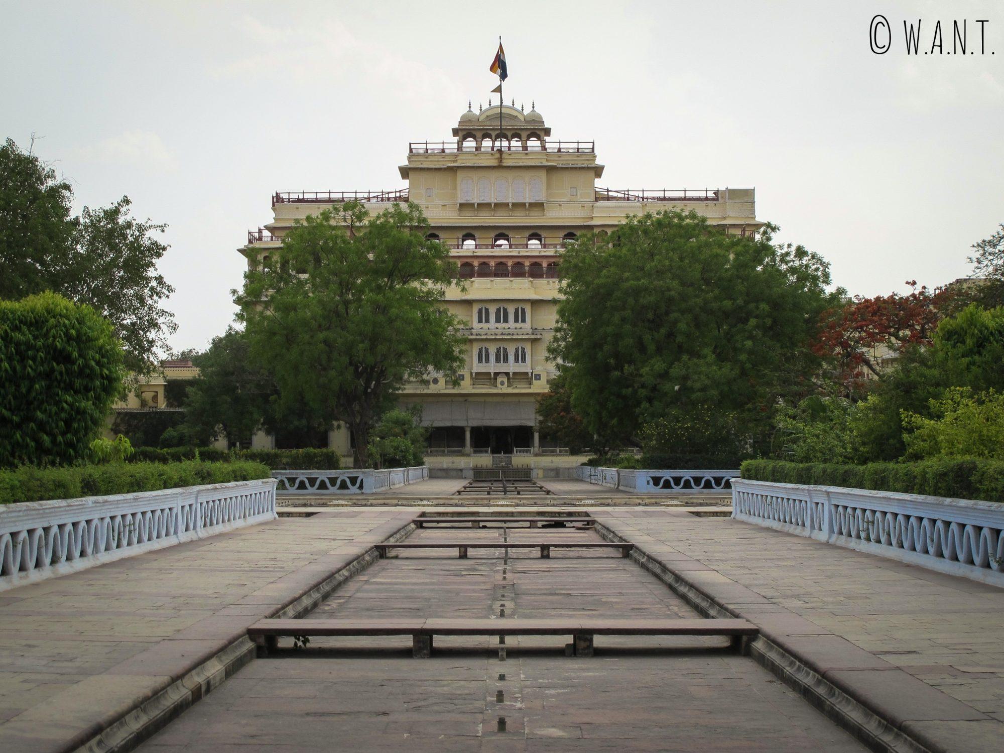 Arrière du City Palace depuis le temple Govind Devji à Jaipur