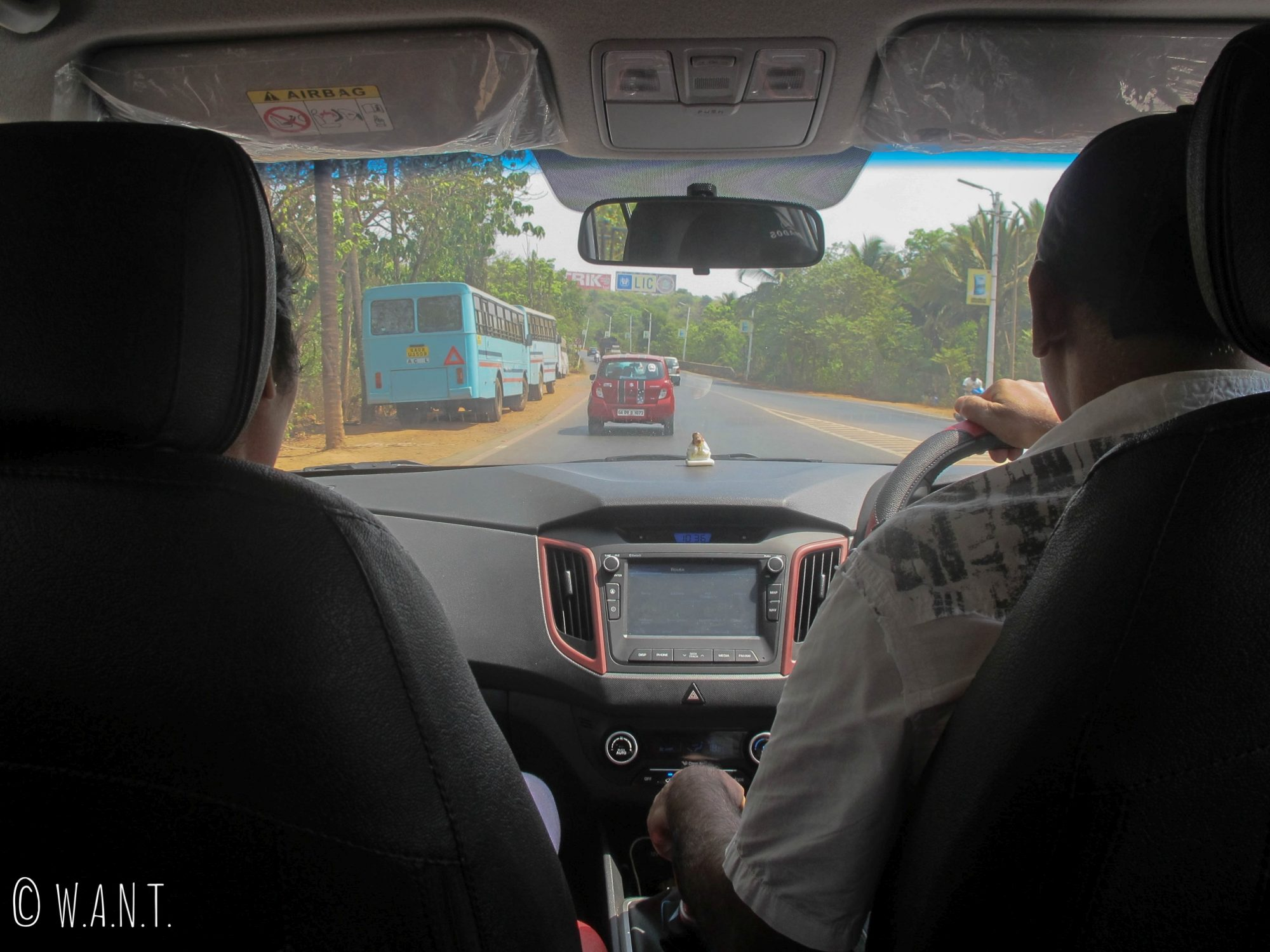 Cinquante minutes de route pour rejoindre le site de Old Goa depuis Majorda