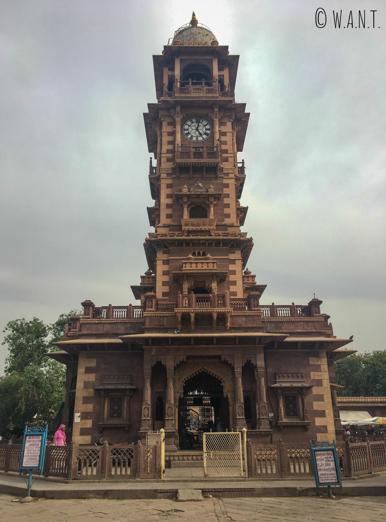 Clocktower au coeur du marché Sadar, dans le centre de Jodhpur