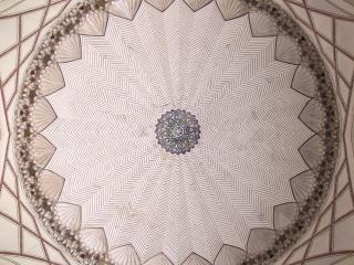 Coupole à l'intérieur de la tombe de Humayun