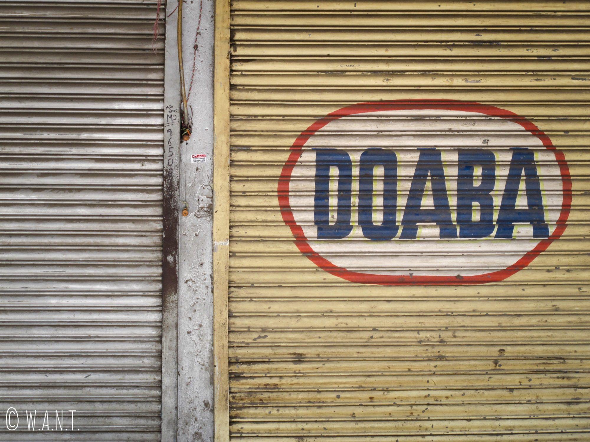 Devanture de magasin dans les rues de Delhi