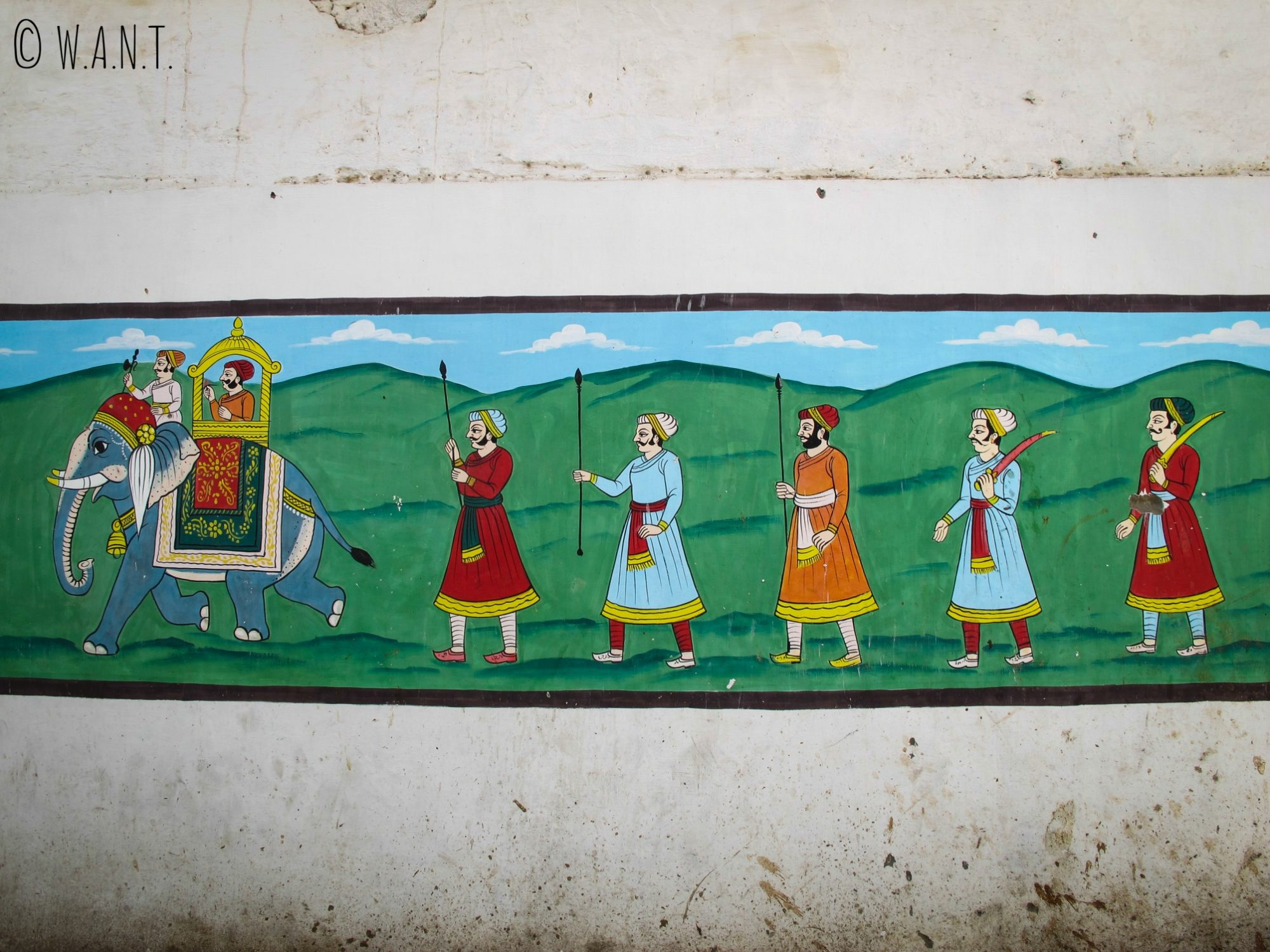 Fresque murale dans les rues de Jodhpur