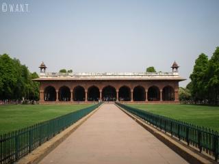 Jardins dans l'enceinte du Fort Rouge de Delhi