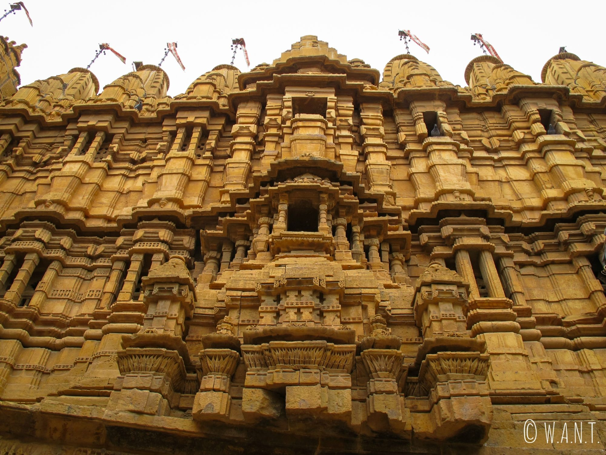 La façade du usée du fort de Jaisalmer, donnant sur la place principale
