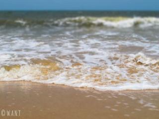 La mer arabique est déchaînée durant notre séjour