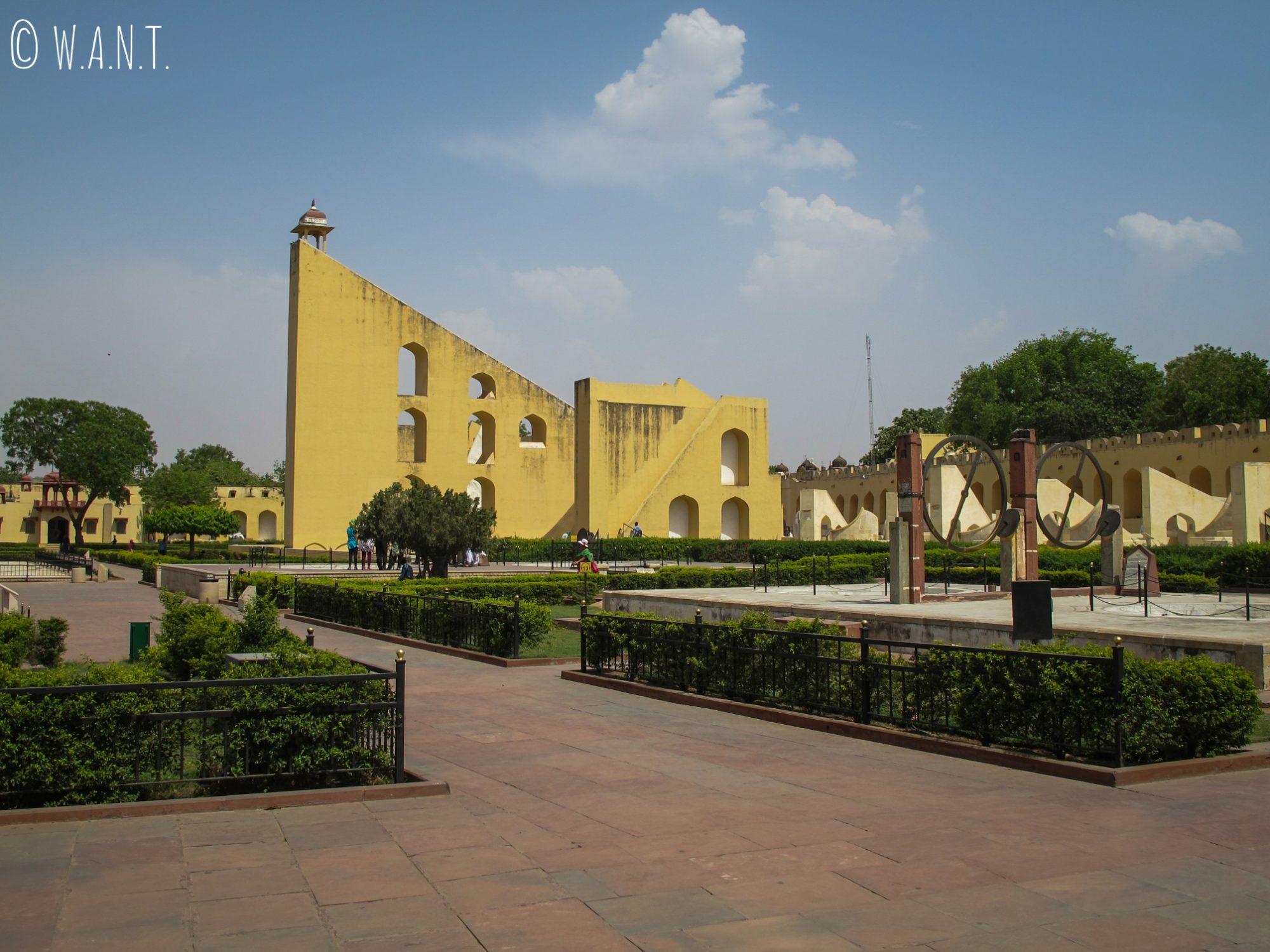 Le Jantar Mantar de Jaipur est un site classé au patrimoine mondial de l'UNESCO