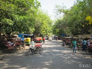 Le rickshaw est le moyen de transport traditionnel de Delhi