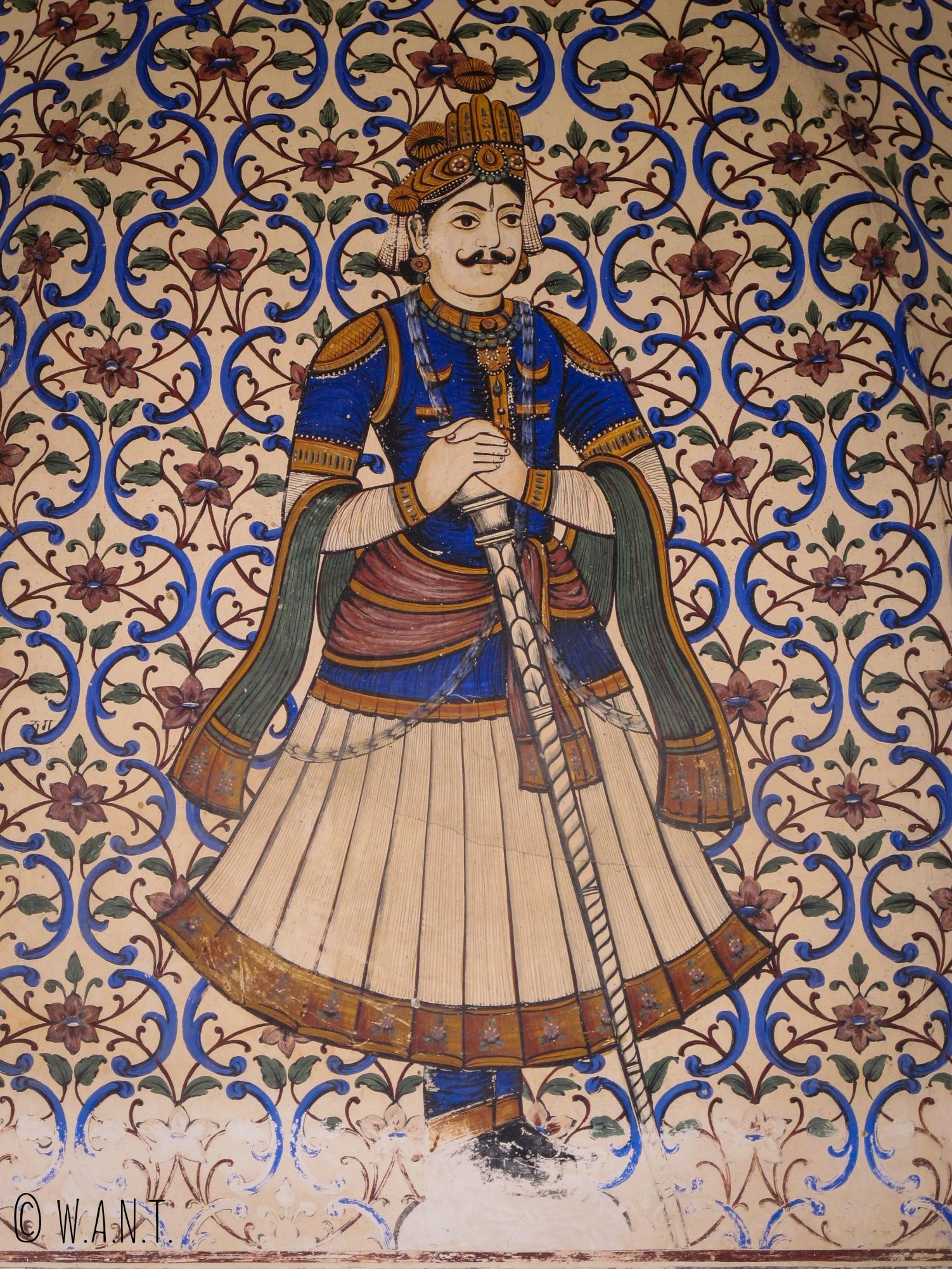 L'entrée du City Palace de Jaipur est ornée de mozaïques diverses et colorées