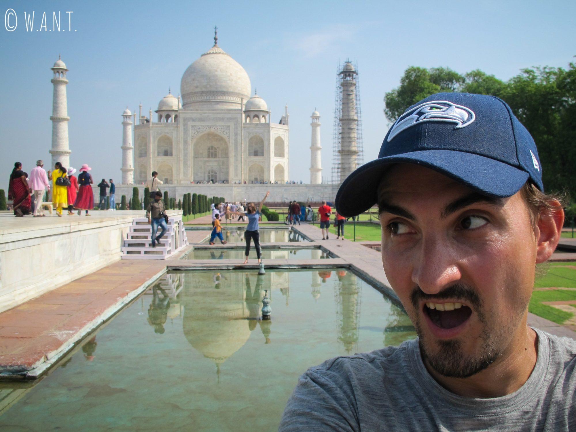 Lors de la visite du Taj Mahal, nous avons tenu à immortaliser ce moment
