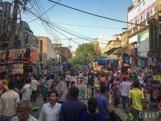 Marché de rue de Karol Bagh
