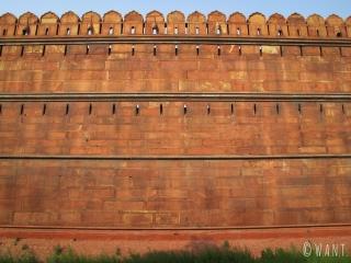 Mur d'enceinte du Fort Rouge de Delhi