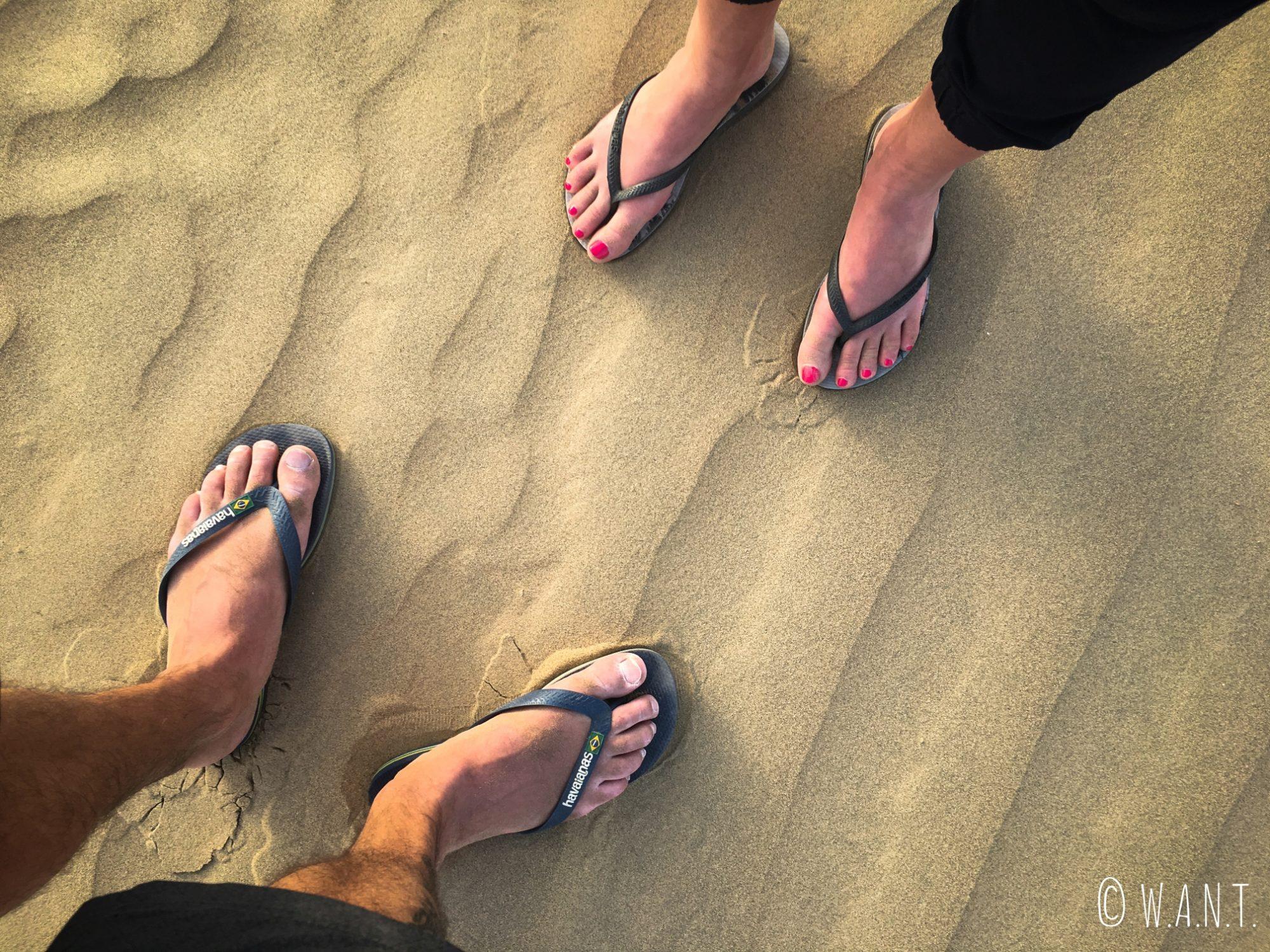 Nous posons enfin nos pieds dans le sable du désert du Thar