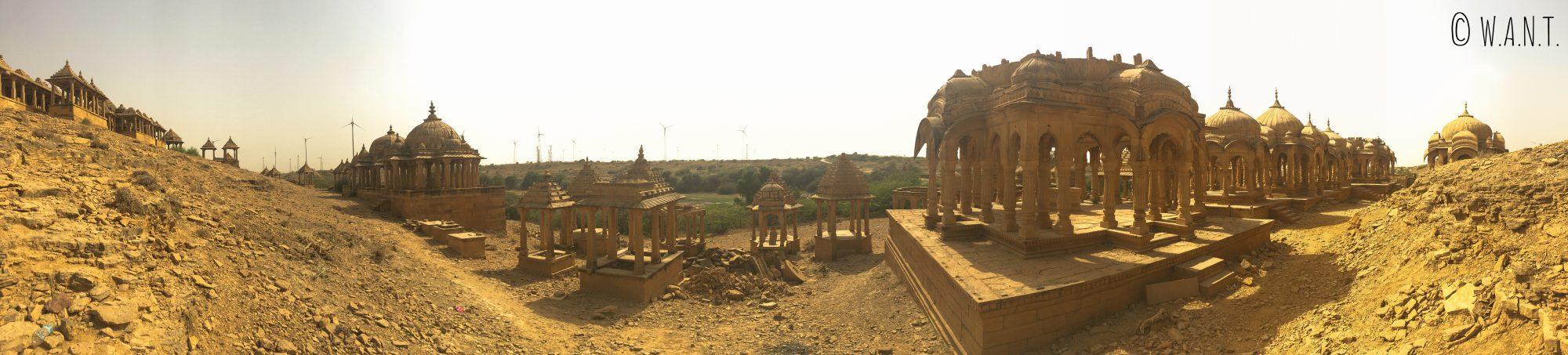 Panorama de Bada Bagh, dans le désert du Thar