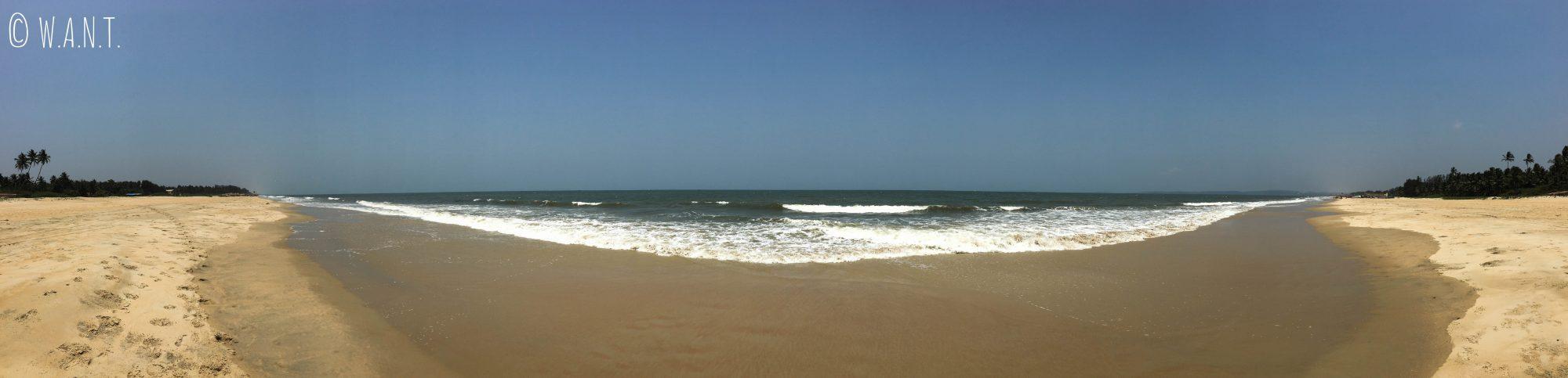 Panorama de la plage de Majorda côté mer