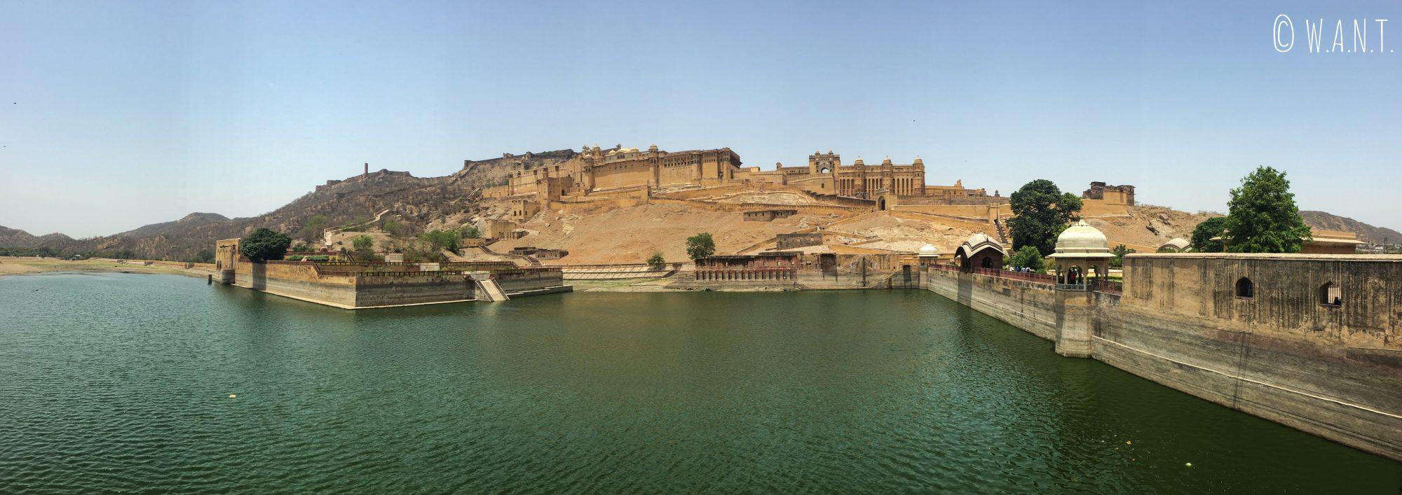 Panorama du Fort d'Amber situé à 11 kilomètres de Jaipur