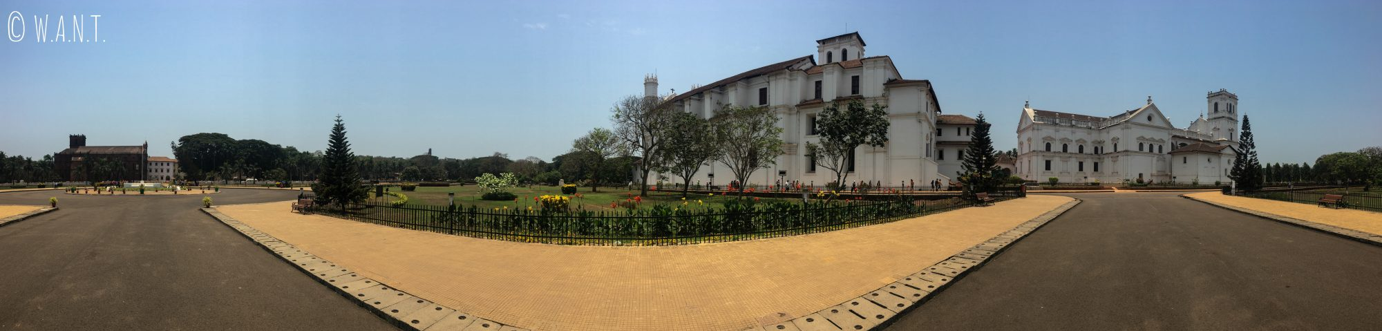 Panorama du site Unesco de Old Goa