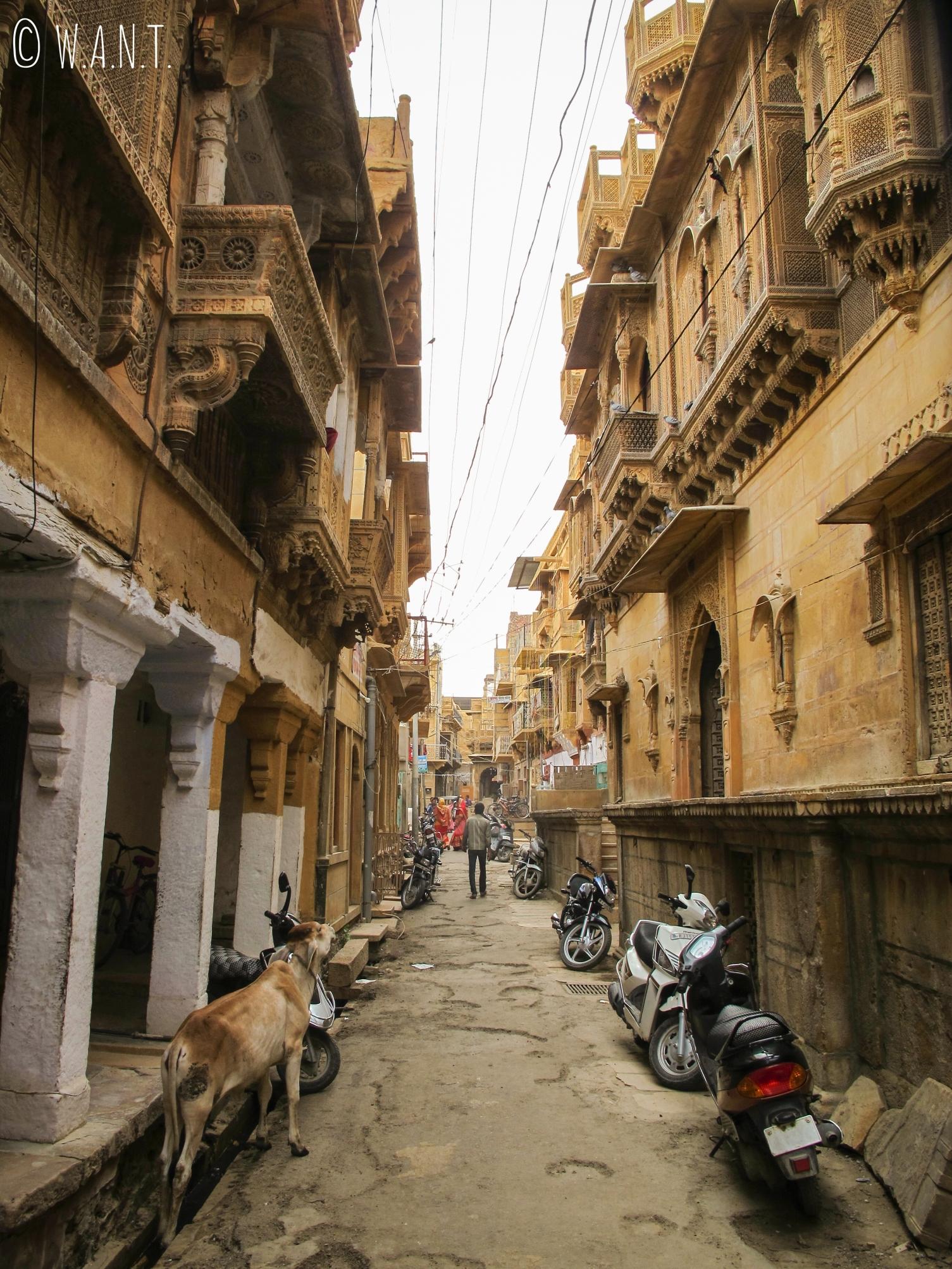 Petit rues dans le quartier des Havelis de Jaisalmer