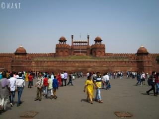 Place principale devant le Fort Rouge de Delhi