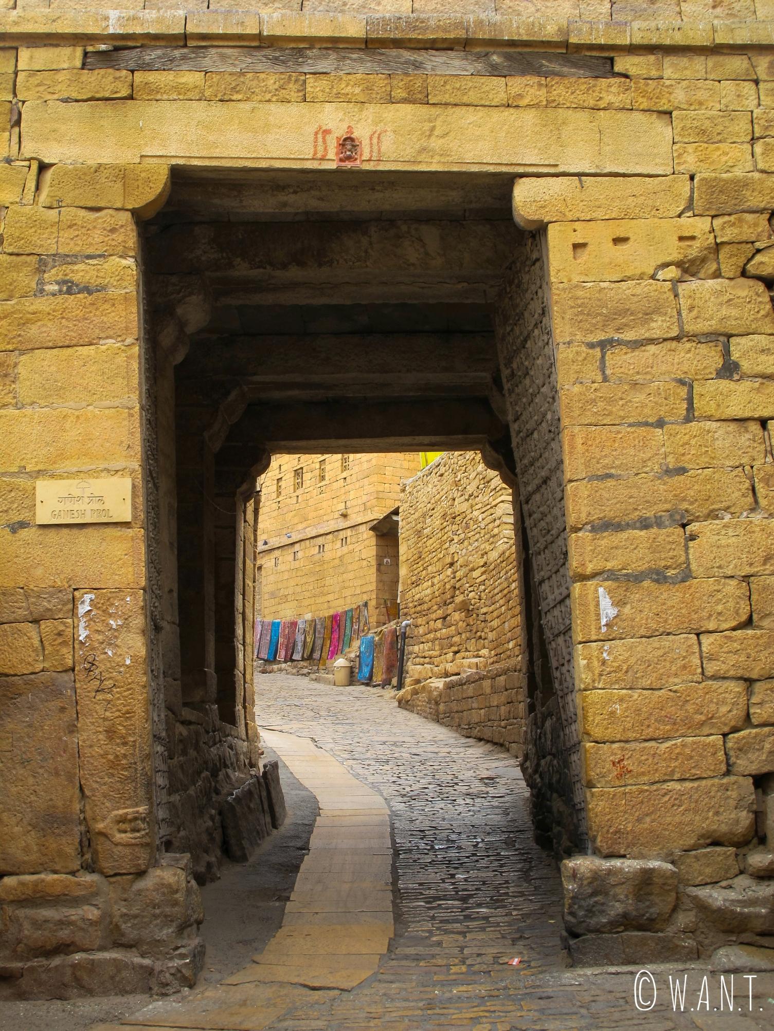 Porte Ganesh, la troisième porte afin d'entrer dans l'enceinte du fort de Jaisalmer