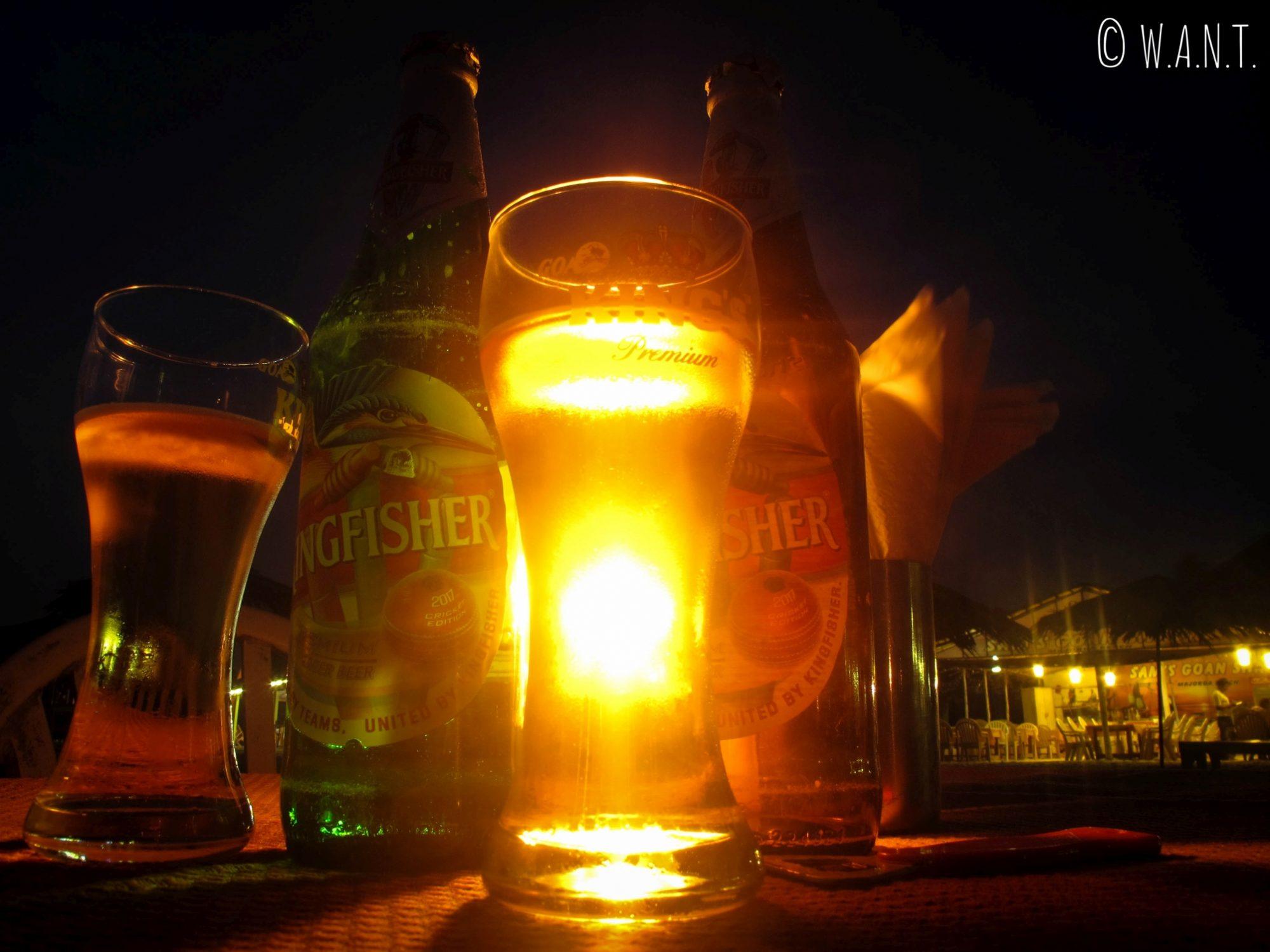 Premières bières de notre voyage !