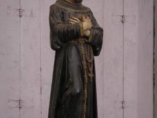 Représentation de Saint François d'Assise dans la cathédrale éponyme