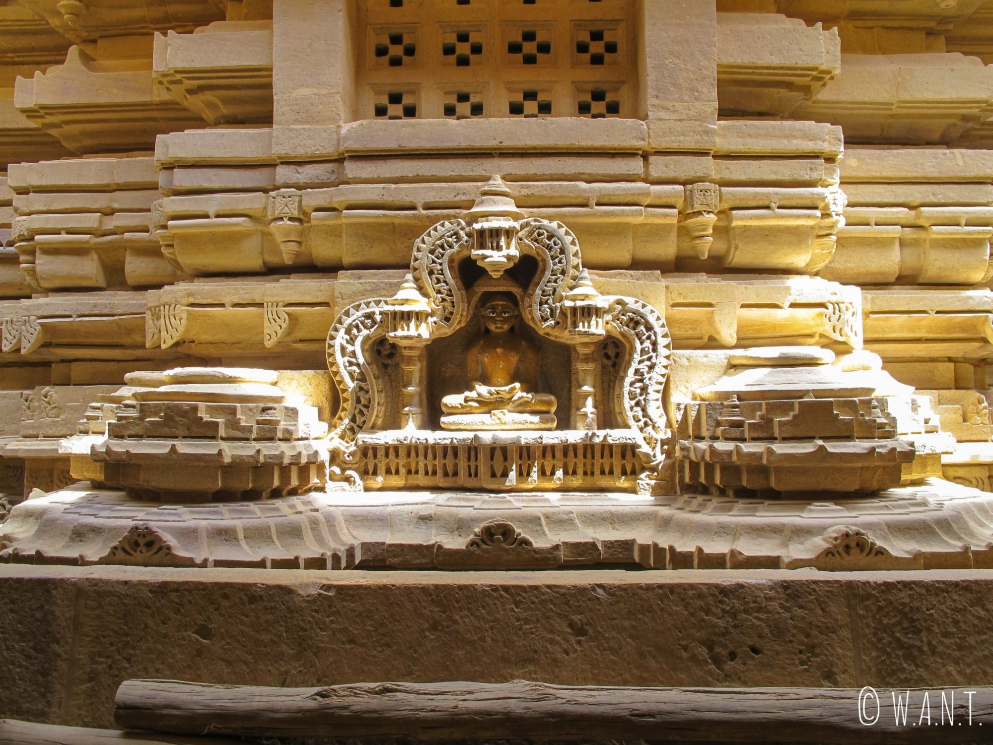 Représentation de divinité d'un temple Jain dans l'enceinte du fort de Jaisalmer
