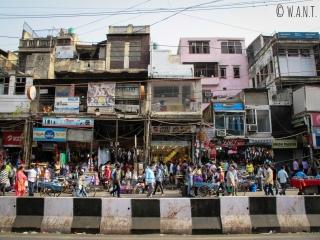 Rue marchande de Delhi