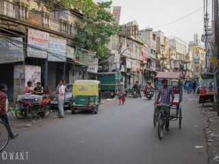 Rue passante de Delhi